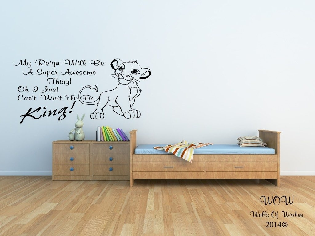 Lion King Wall Art Spectacular Lion King Wall Decals Photo Of The Throughout Latest Lion King Wall Art (Gallery 2 of 20)