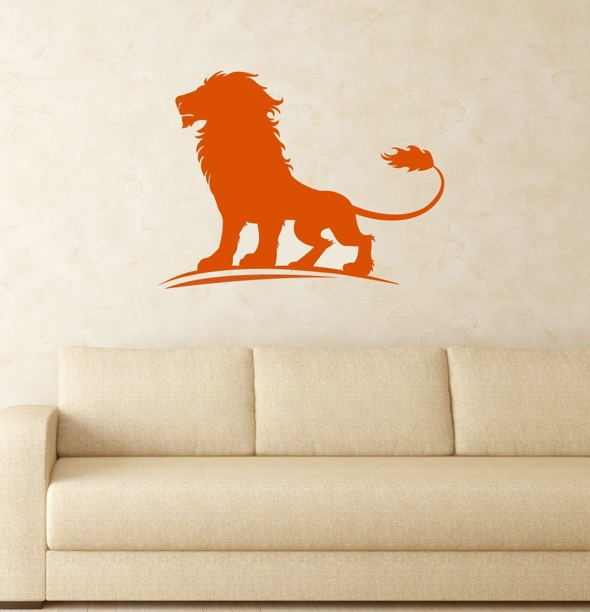 Lion Vinyl Decal, King Of The Jungle Wall Art Sticker For Kids Room For Most Current Lion King Wall Art (View 18 of 20)
