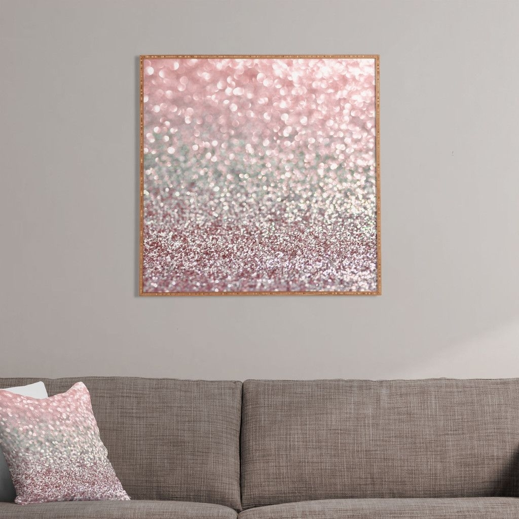 Lisa Argyropoulos Girly Pink Snowfall Framed Wall Art | Home In Best And Newest Pink Wall Art (View 14 of 20)