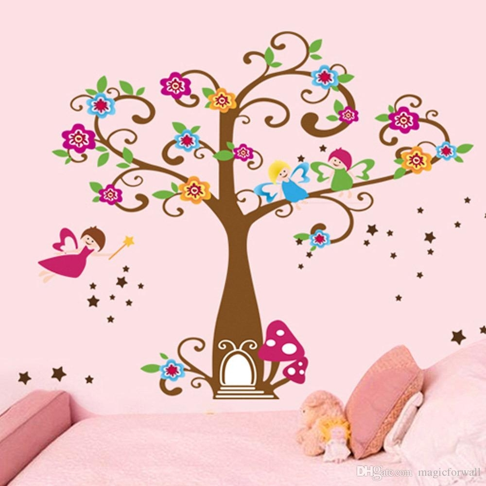 Little Elf Magic Tree House Wall Decal Stickers Decor For Kids Room Intended For Newest Kids Wall Art (Gallery 3 of 15)