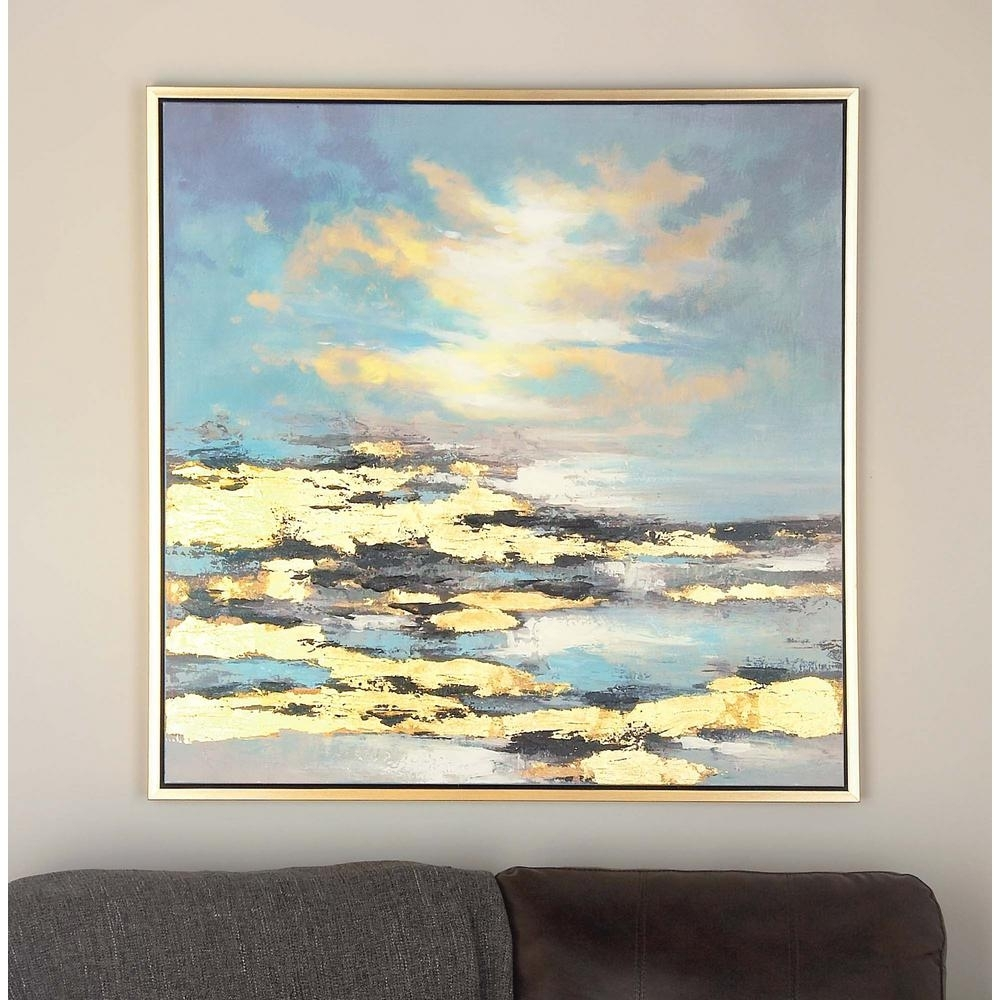 Litton Lane 39 In. X 39 In. Sunrise Canvas Wall Art-47458 - The Home with 2017 Canvas Wall Art