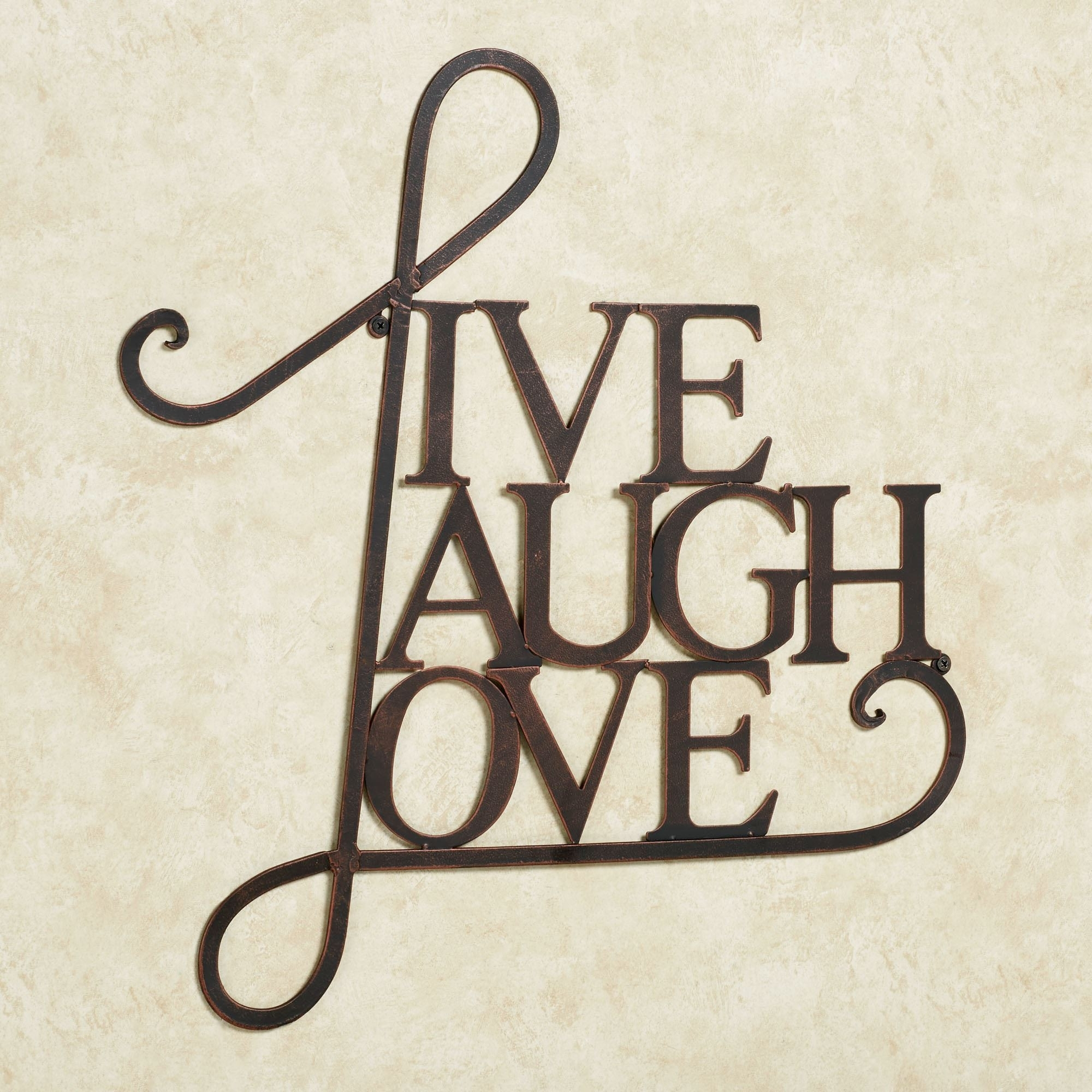 Live Laugh Love Metal Word Wall Art Fair | Bakerstreetbricolage For Most Recent Live Laugh Love Wall Art (View 7 of 20)