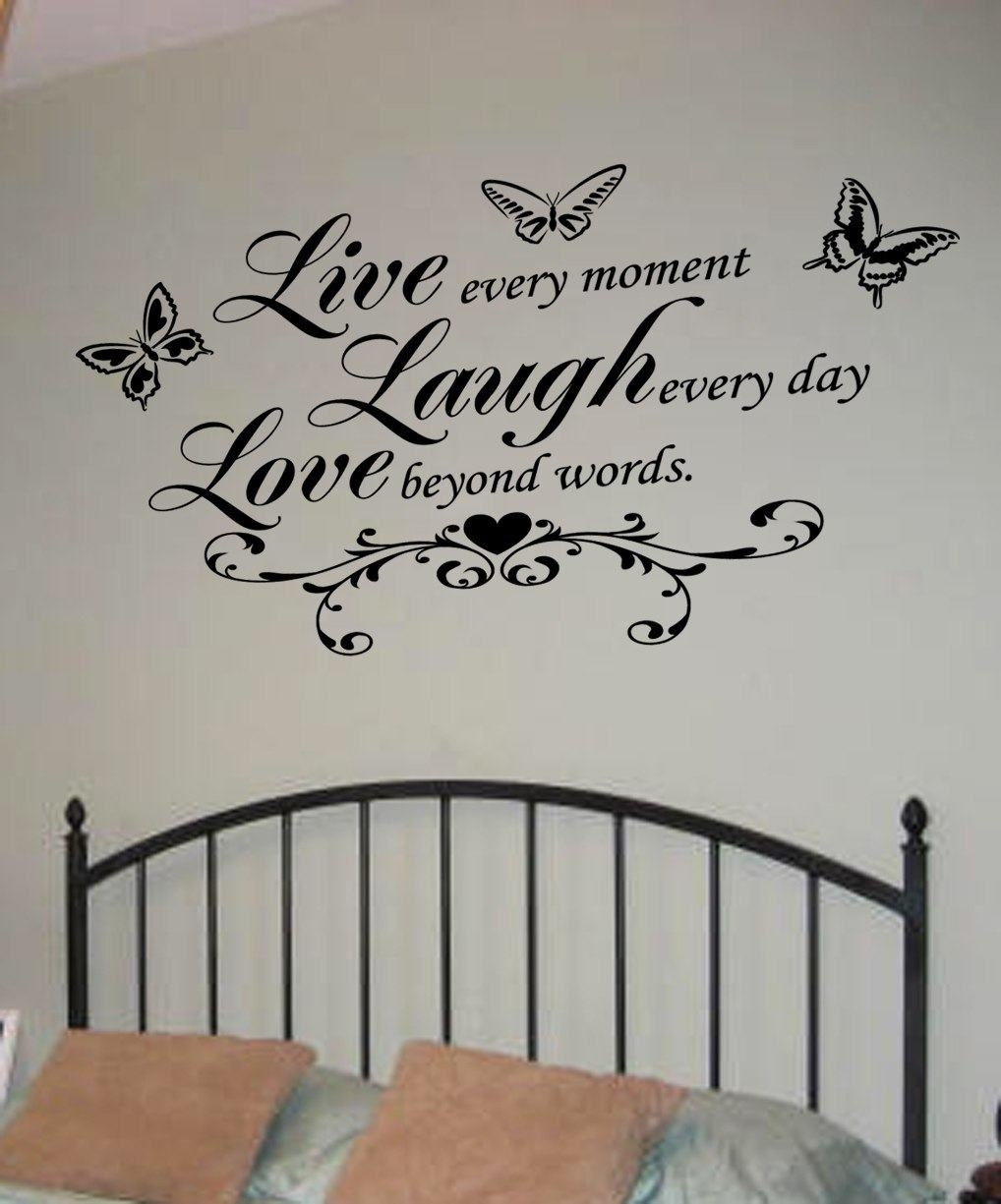 Live Laugh Love Wall Art Decal | Wall Decal | Wall Art Decal Within Most Up To Date Live Laugh Love Wall Art (View 10 of 20)
