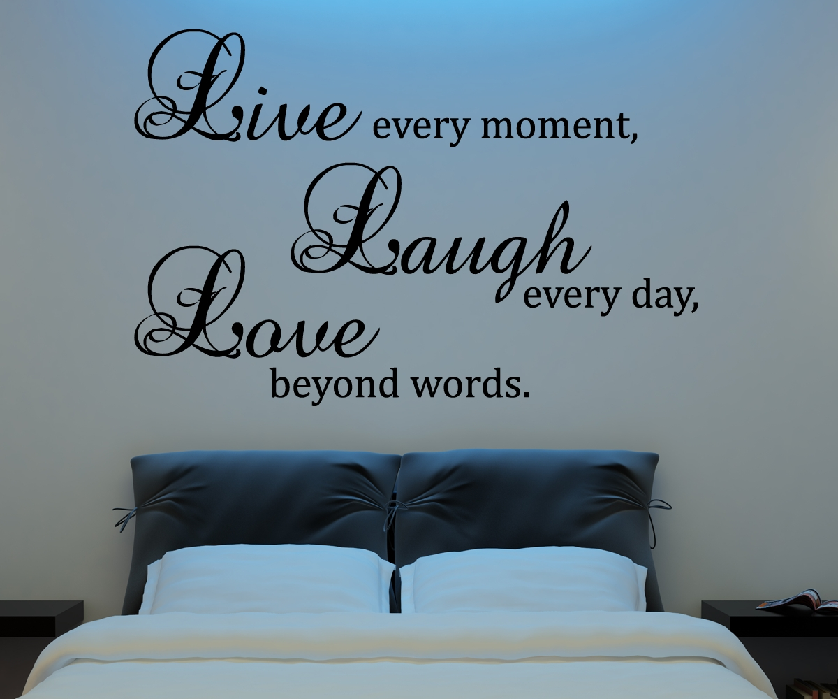 Live Laugh Love Wall Decal Vinyl Sticker Quote Art Living Room pertaining to Latest Live Laugh Love Wall Art