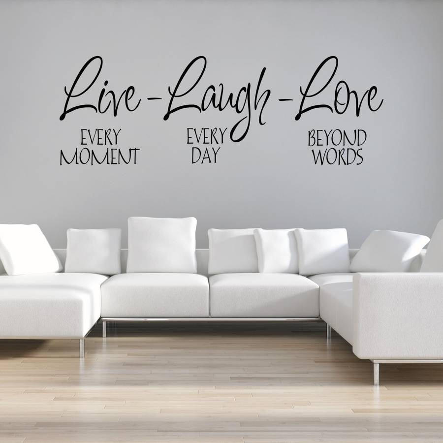 Live Laugh Love Wall Stickermirrorin | Notonthehighstreet throughout Latest Live Laugh Love Wall Art