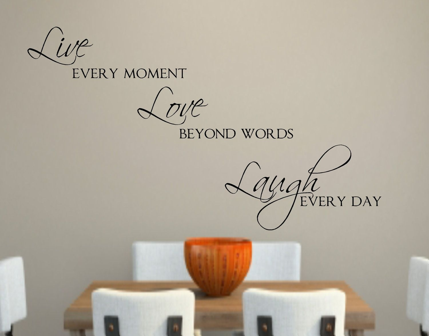 Live Love Laugh Vinyl Wall Decal Decor Lettering Words For The Wall within 2018 Live Laugh Love Wall Art