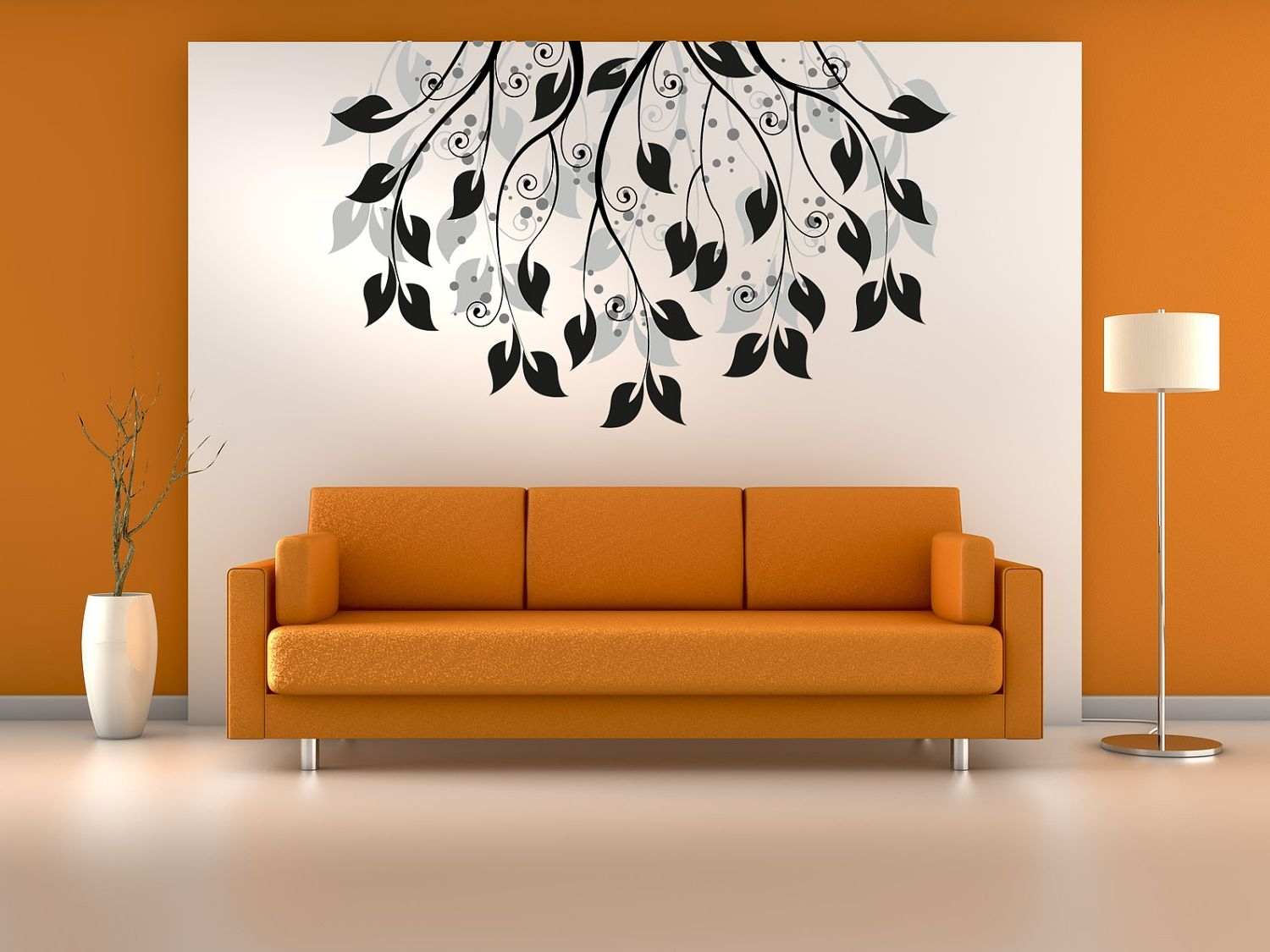 Living Room : Creative Painting Ideas For Walls With White Wall throughout 2018 Art For Walls