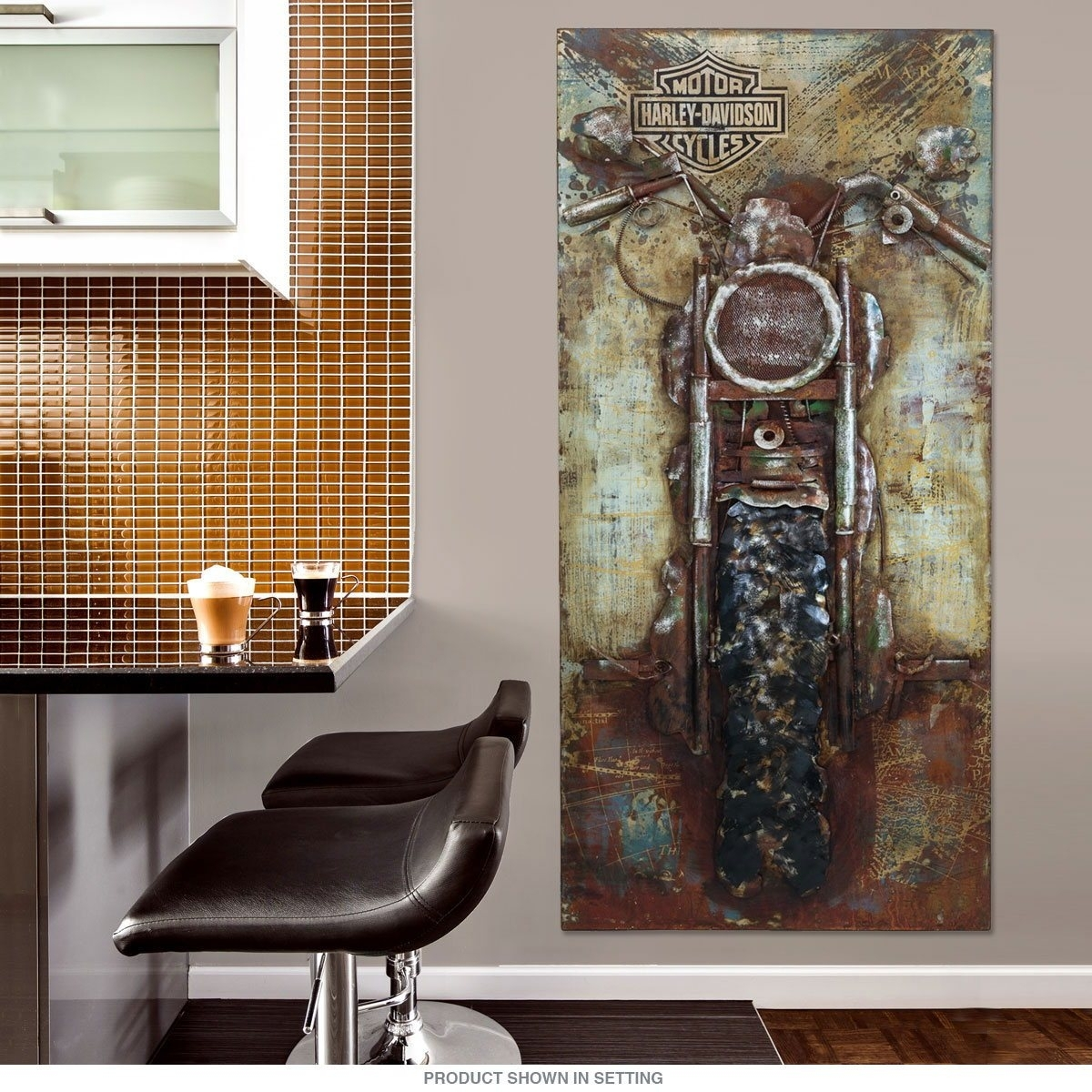Living Room Outstanding Harley Davidson Image Ideas Bike Repurposed Throughout Most Popular Harley Davidson Wall Art (View 19 of 20)
