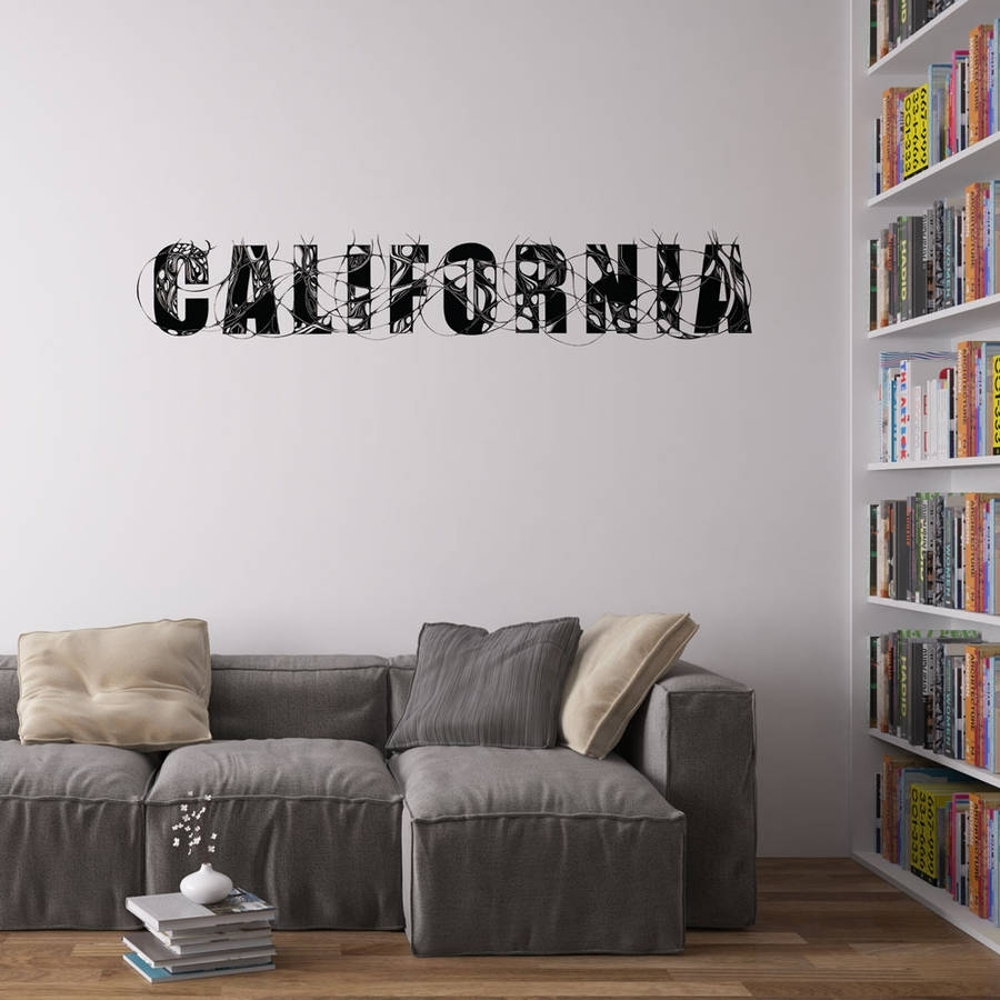 Living Room Vinyl Wall Art – [Thronefield] With Regard To 2018 California Wall Art (Gallery 8 of 20)