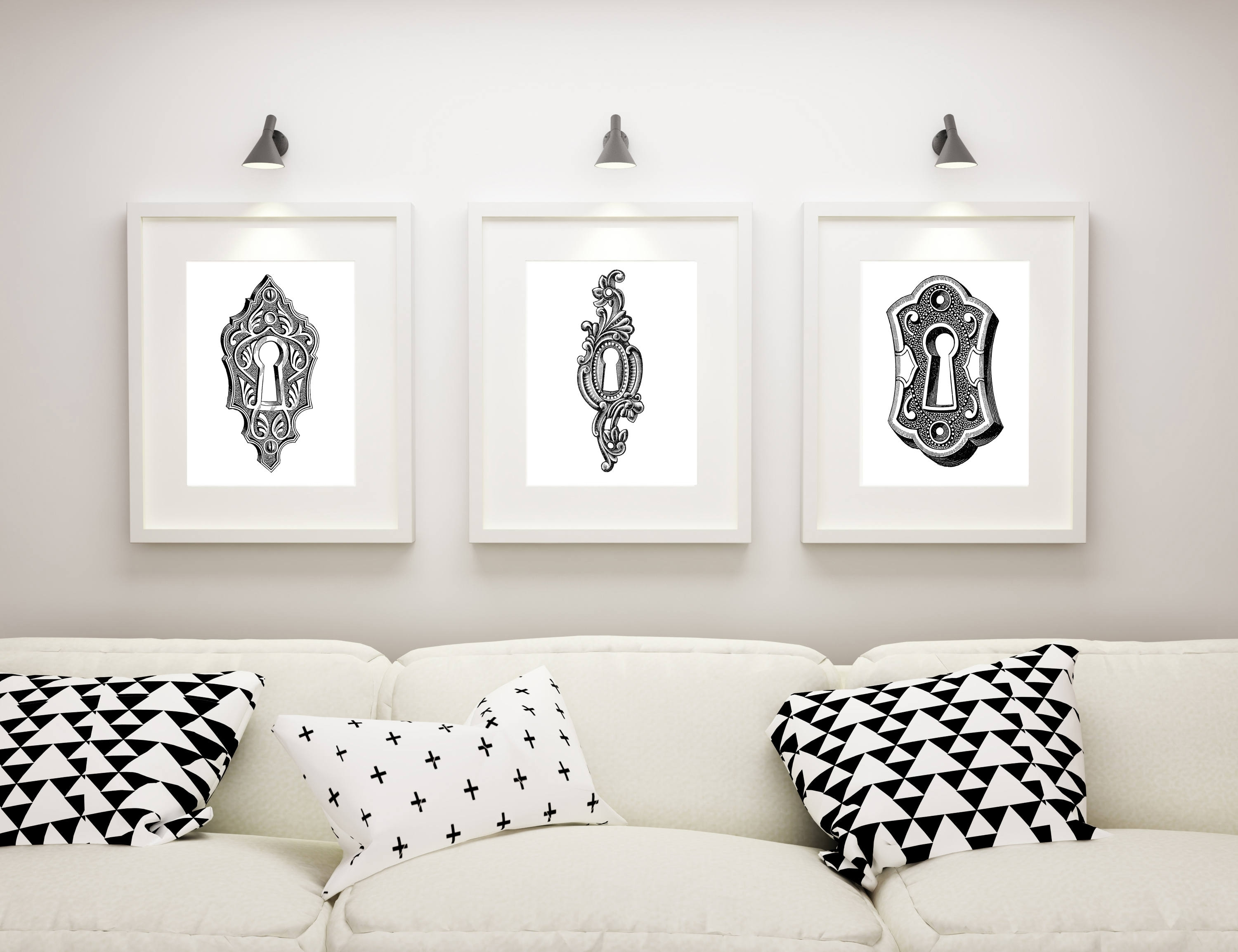 Living Room Wall Art, Master Bedroom Decor, Steampunk Artwork For Most Recent White Wall Art (Gallery 19 of 20)
