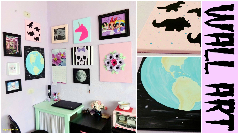 Living Room Wall Decor Youtube Fresh Diy Tumblr Room Decor Ideas Pertaining To Latest Tumblr Wall Art (View 11 of 20)