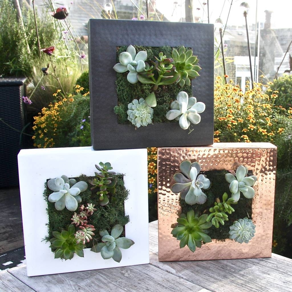 Living Wall Planterlondon Garden Trading | Notonthehighstreet Pertaining To Newest Herb Wall Art (Gallery 16 of 20)
