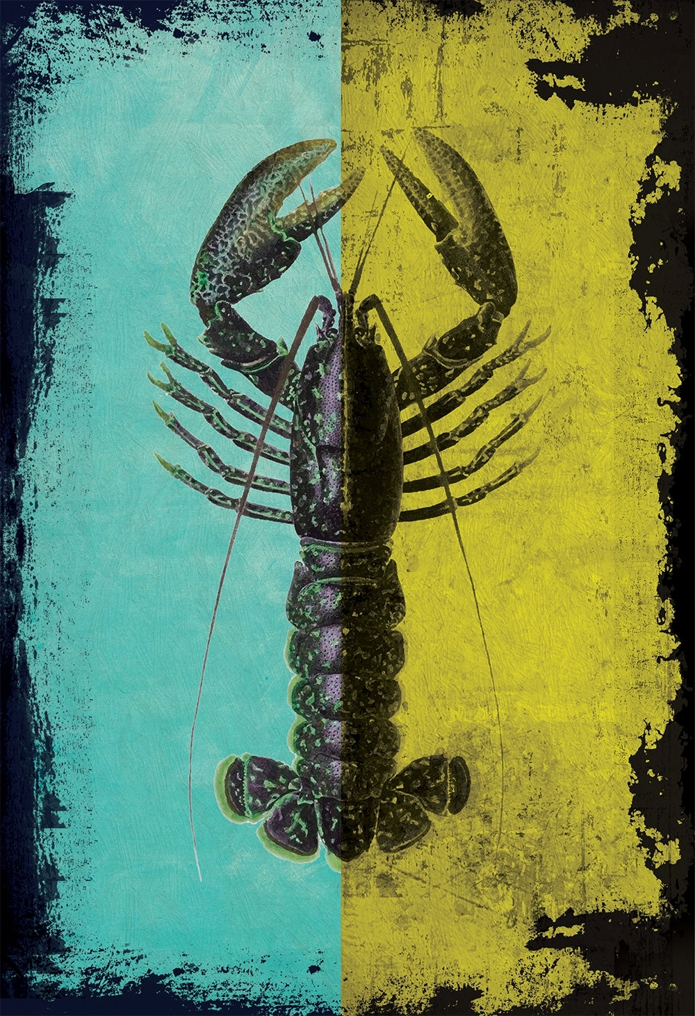 Lobster Print Vintage Nautical Decor Ocean Wall Art – Giclee Print Inside Most Popular Ocean Wall Art (Gallery 12 of 20)
