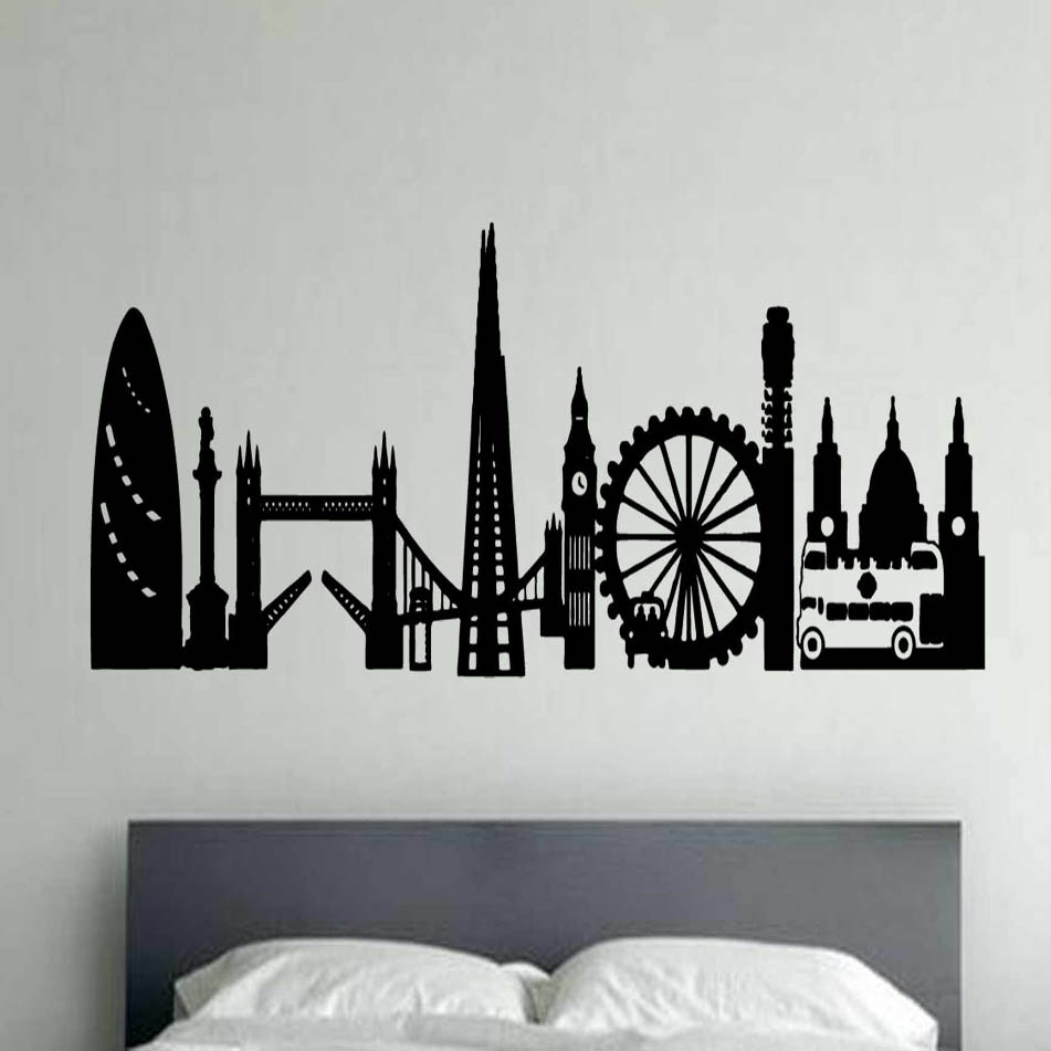 London Montage Vinyl Wall Art | Shop Within Most Recent London Wall Art (View 7 of 20)