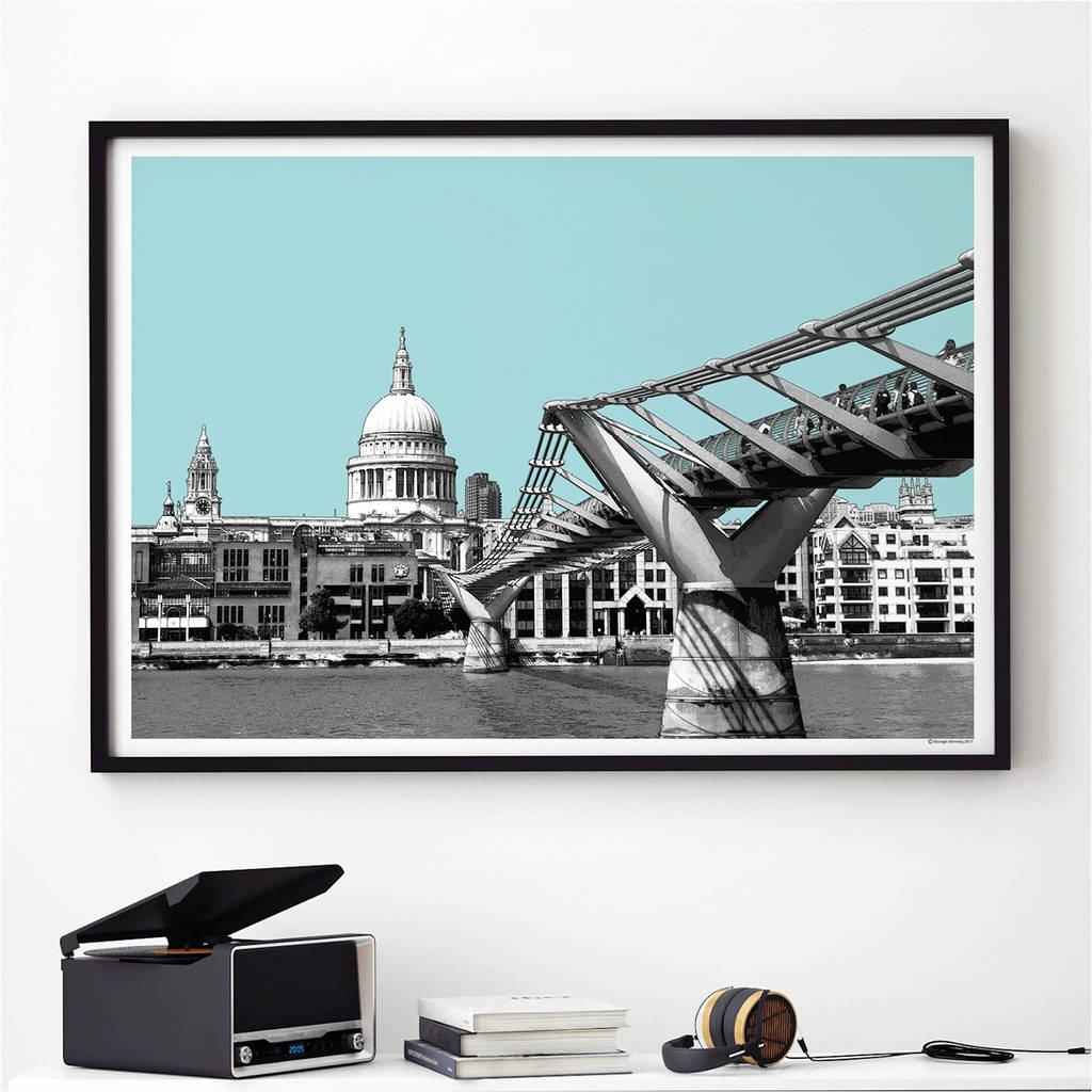 London Wall Art Print St Pauls Cathedralbronagh Kennedy – Art With Regard To Most Recently Released London Wall Art (View 12 of 20)