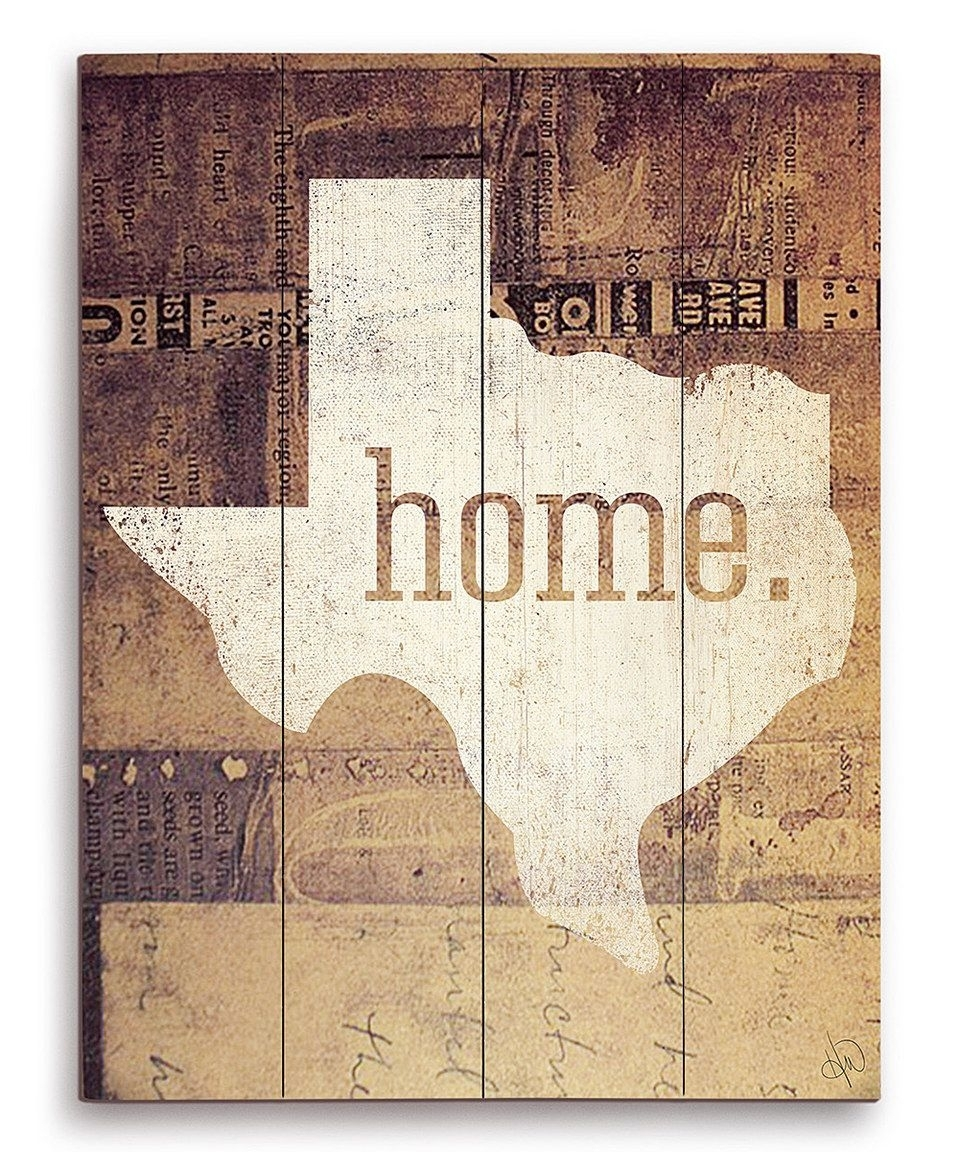 Look At This #zulilyfind! 'home' Wall Artimage Canvas Intended For 2018 Texas Wall Art (Gallery 19 of 20)