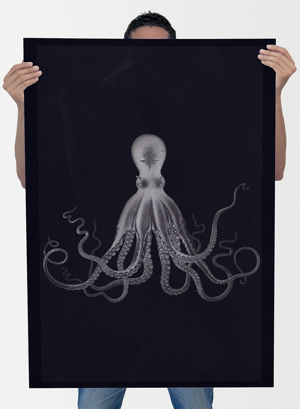 Lord Bodner's Octopus Art Print Sea Squid Vintage Nautical Decor Inside Most Recent Octopus Wall Art (Gallery 6 of 20)
