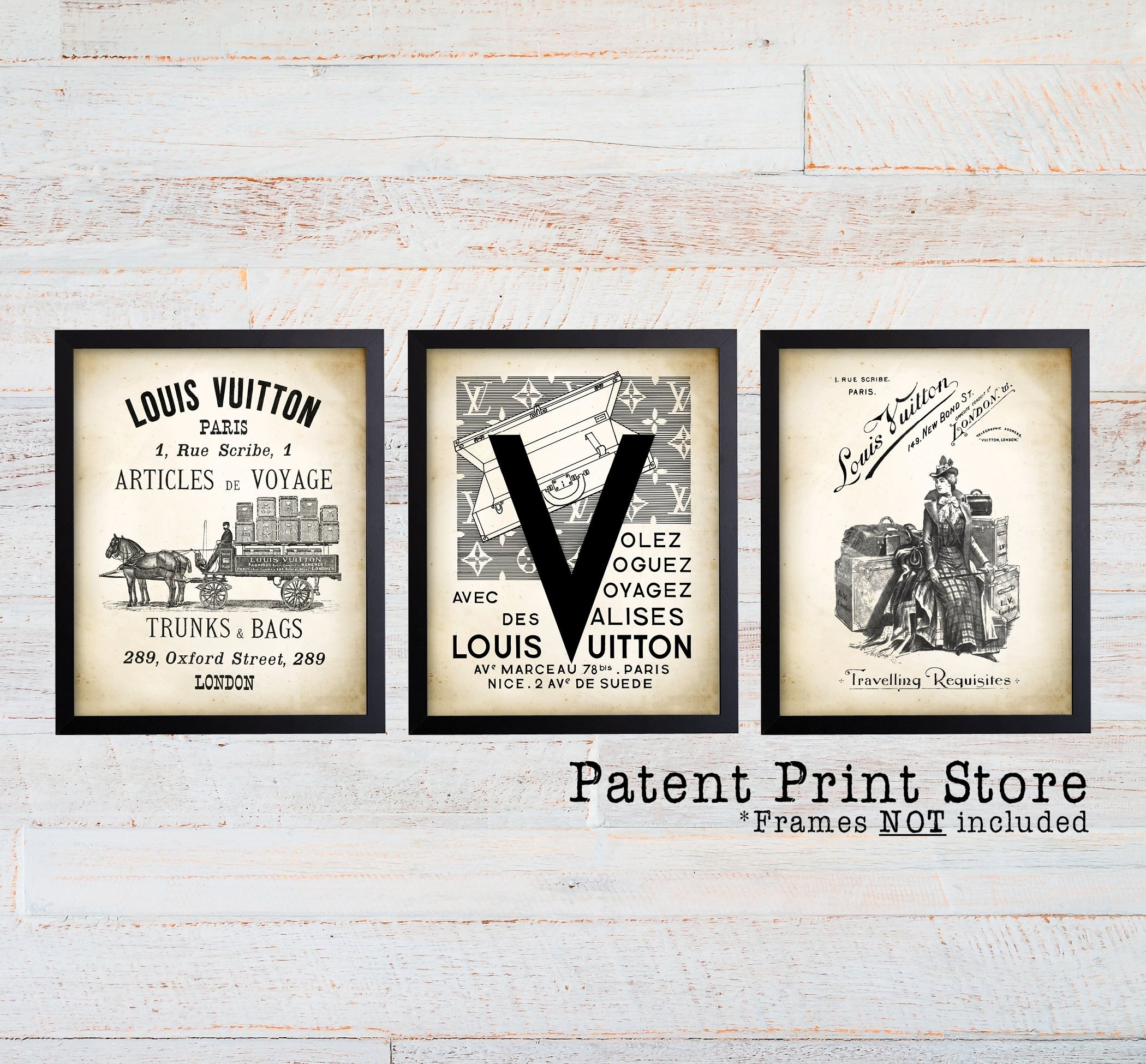 Louis Vuitton Vintage Ad Wall Art Print (View 18 of 20)