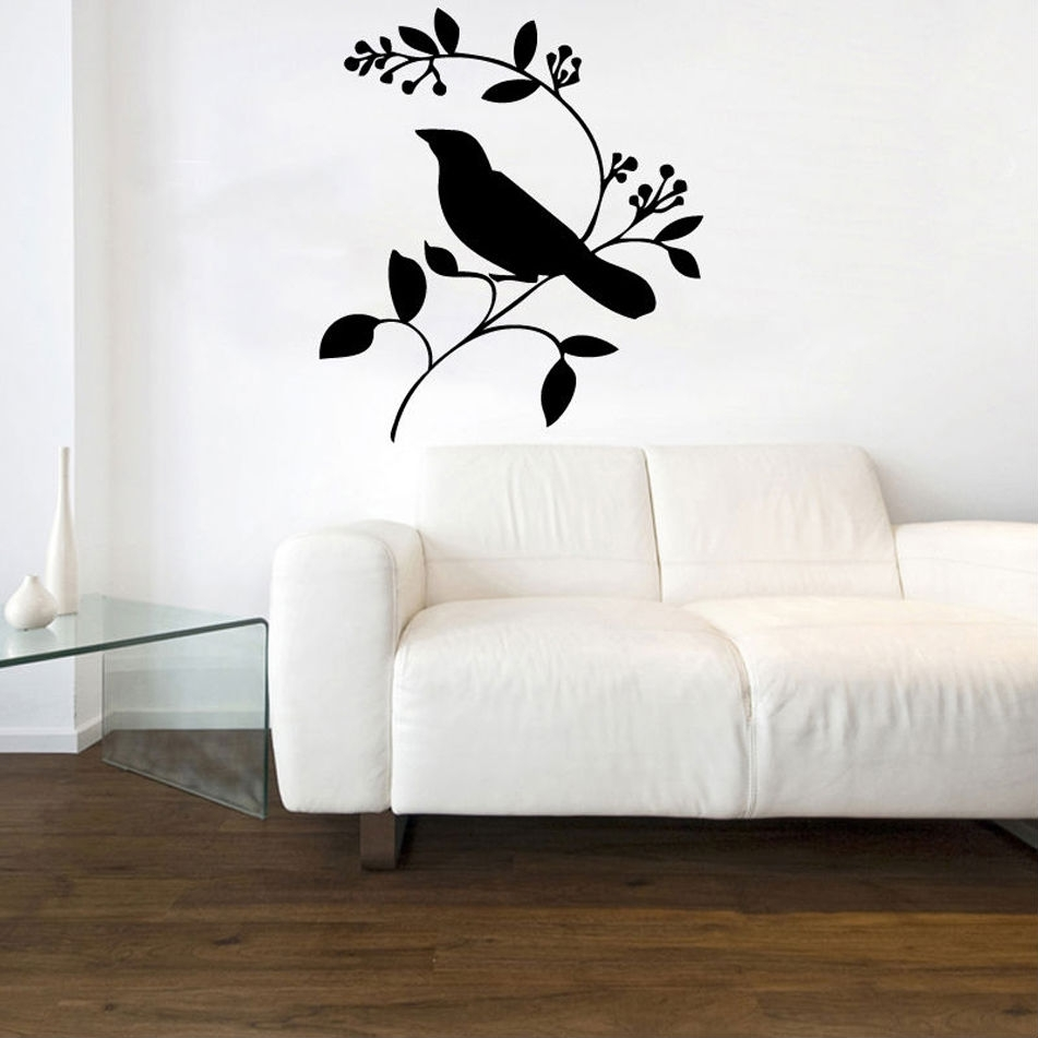 Love Bird On A Branch Vinyl Wall Art | Shop Throughout Best And Newest Bird Wall Art (Gallery 7 of 15)