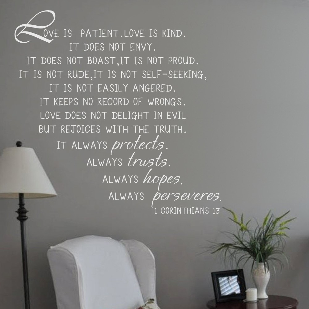 Love Is Patient, Love Is Kind 1 Corinthians 13 Love Quote Bible With Latest Love Is Patient Wall Art (Gallery 13 of 20)