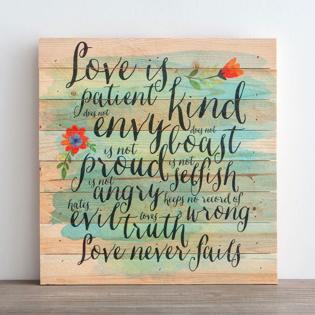 Love Is Patient - Plank Wall Art | Dayspring with Most Recent Love Is Patient Wall Art