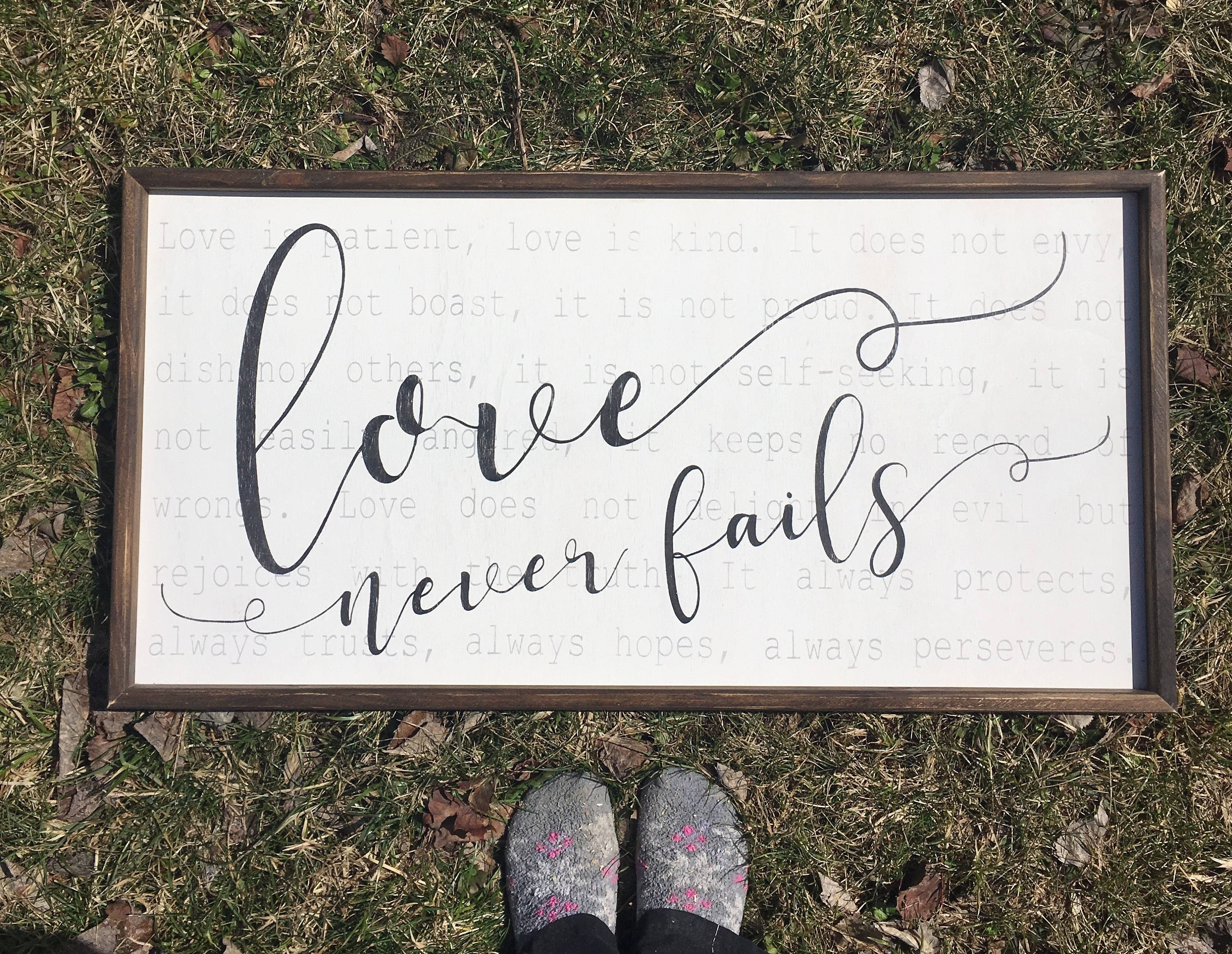 Love Is Patient Sign, 1 Corinthians 13, Large Wood Sign, Reclaimed With Regard To Current Love Is Patient Wall Art (View 14 of 20)