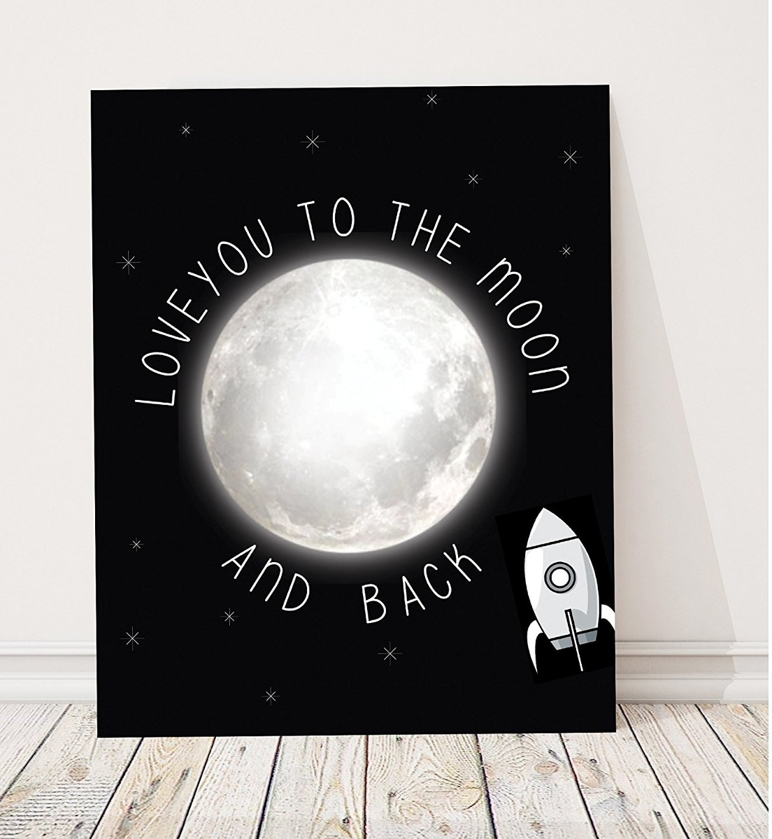 Love You To The Moon And Back Children's Wall Art Print 11x1 Within Current I Love You To The Moon And Back Wall Art (View 12 of 20)