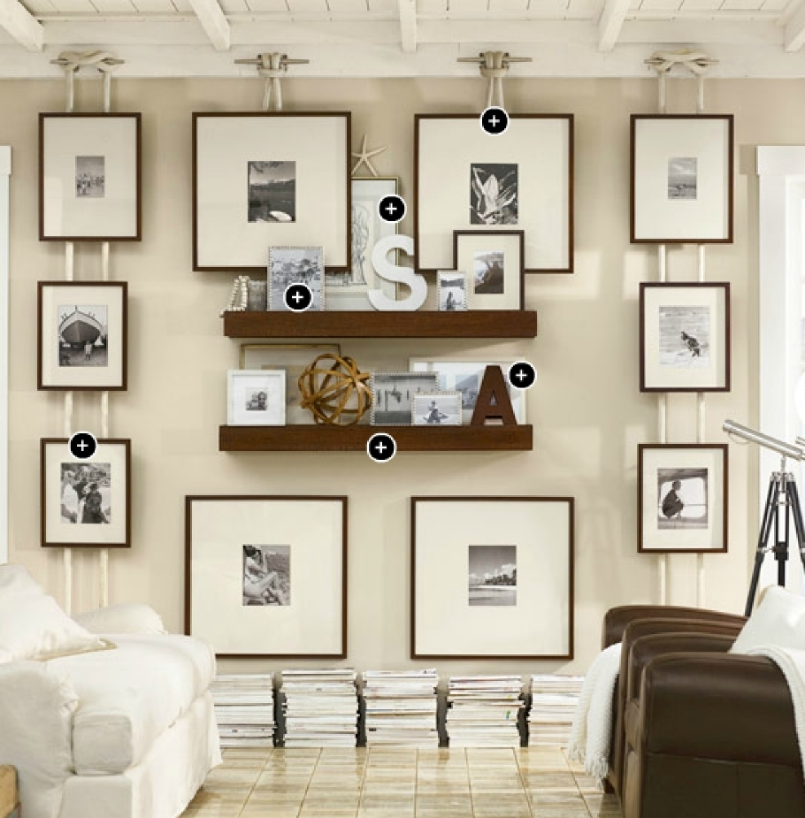 Lovely Gallery Wall Ideas Pottery Barn | Wall Decorations With Most Popular Pottery Barn Wall Art (View 3 of 15)