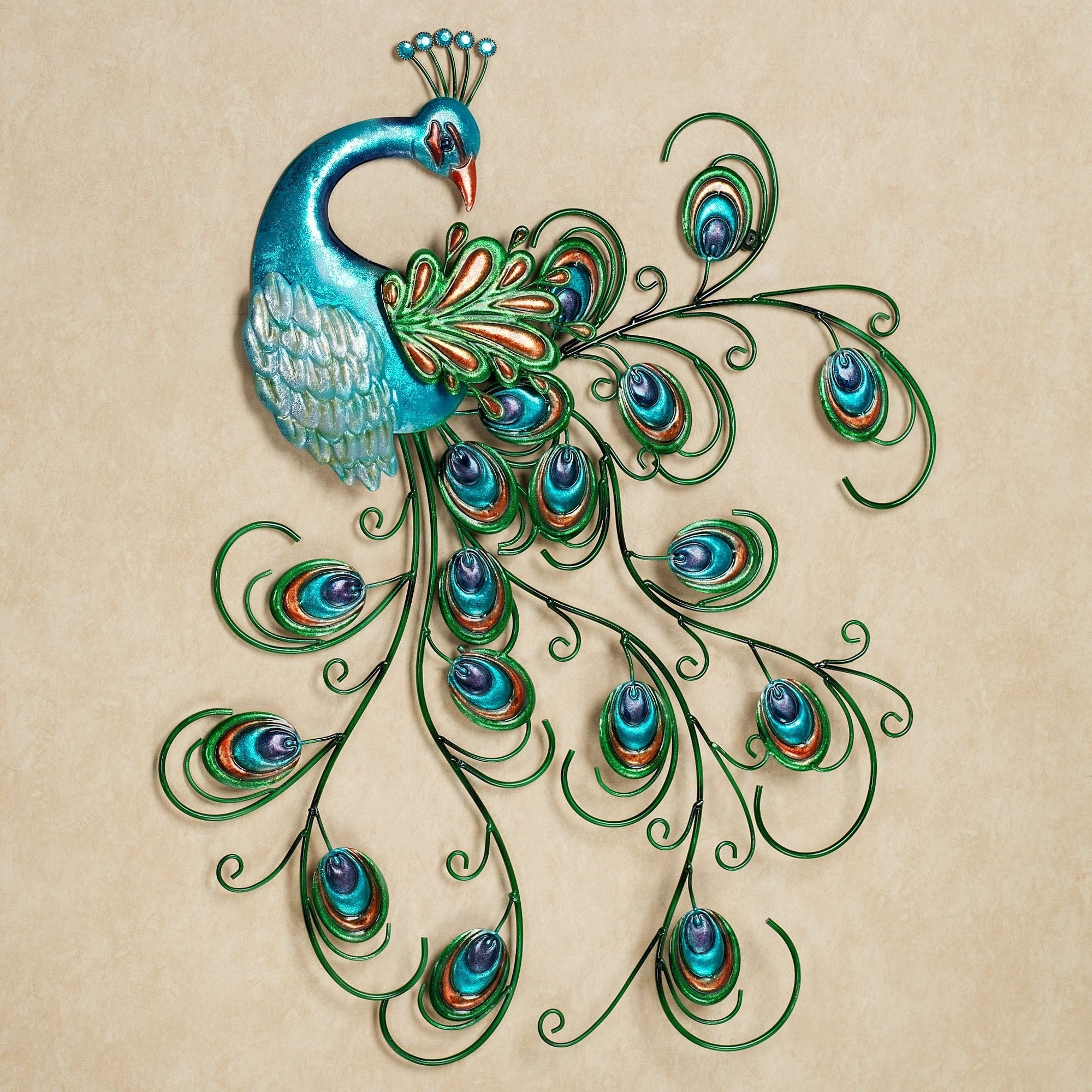 Lovely Peacock Wall Art Design Of Metal Peacock Wall Decor Of Metal Regarding Most Popular Peacock Wall Art (Gallery 3 of 15)