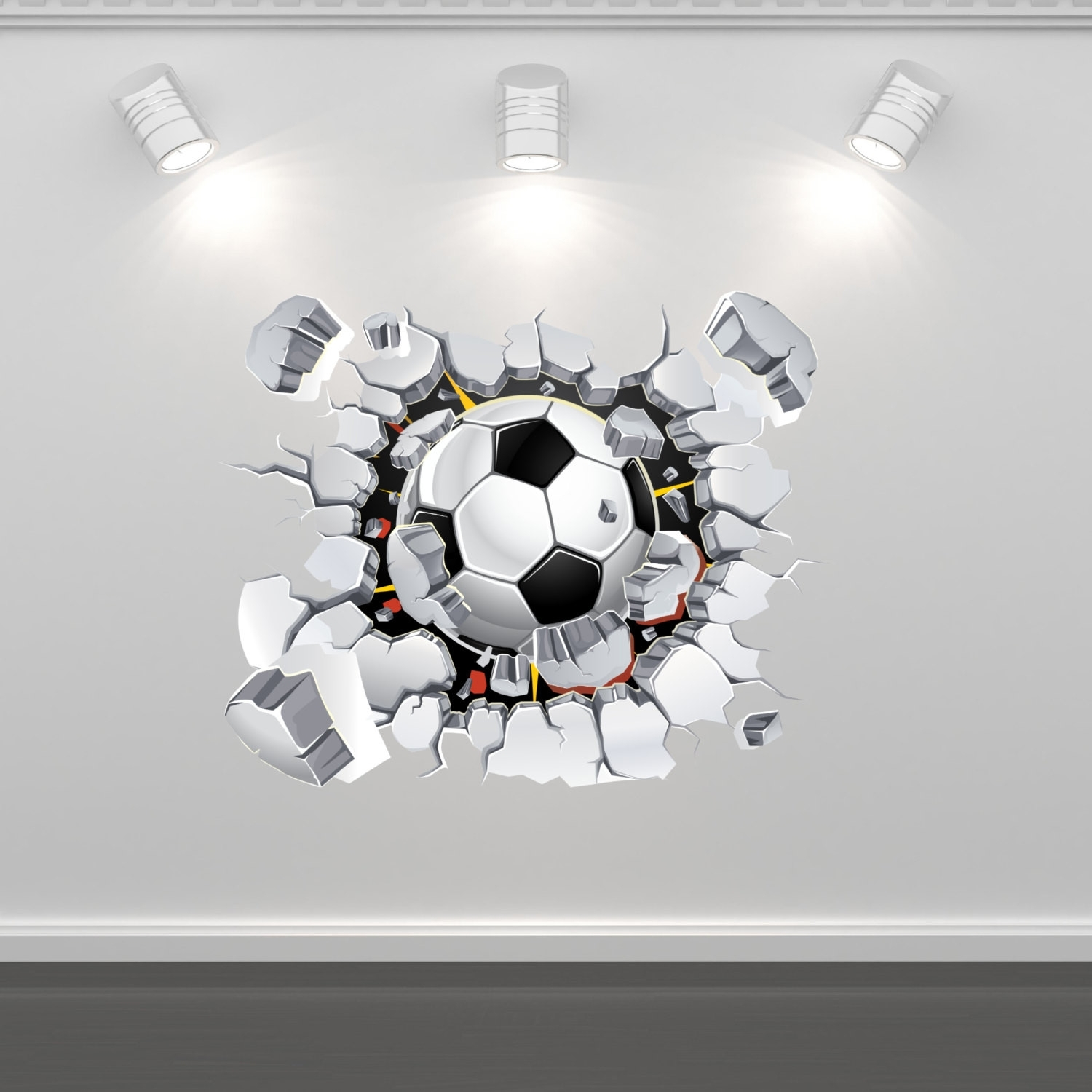 Lovely Soccer Wall Decals Design Of Football Wall Art | Wall Art Inside Newest Soccer Wall Art (View 11 of 20)