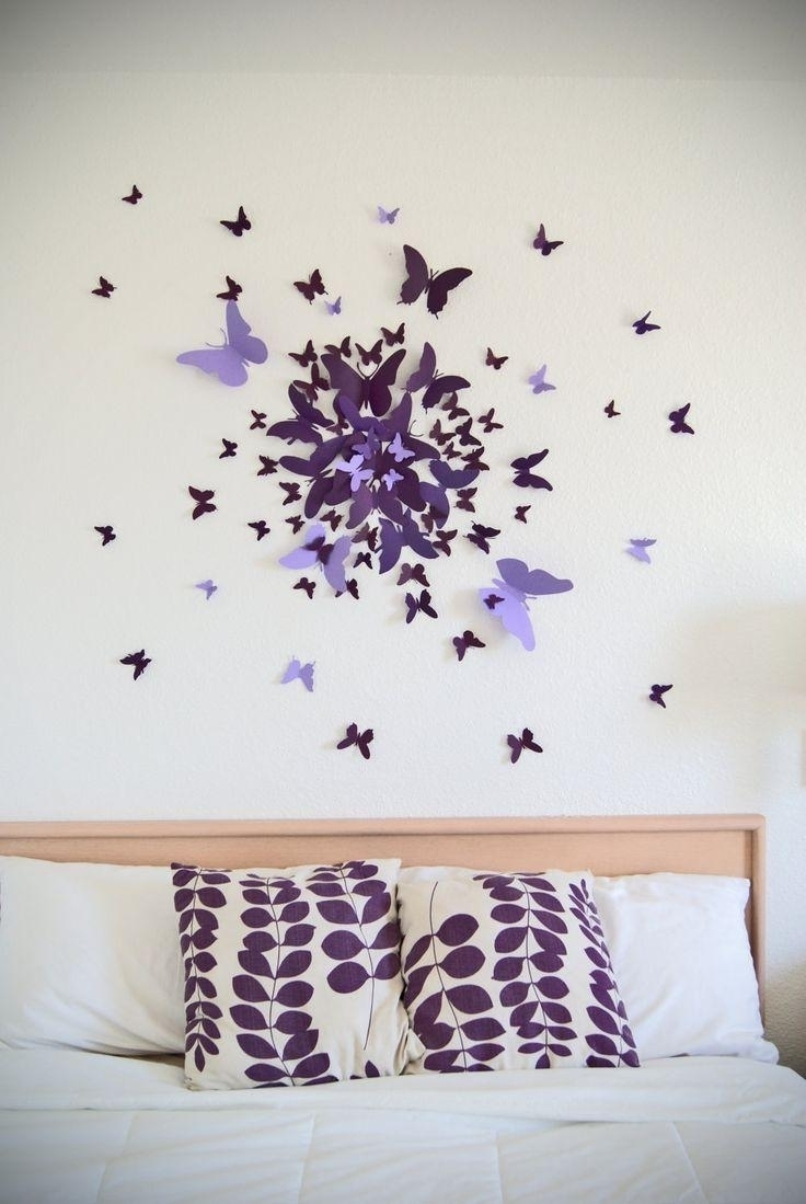 Lovely Wall Art Ideas Purple | Wall Decorations With Most Recent Purple And Grey Wall Art (Gallery 14 of 20)