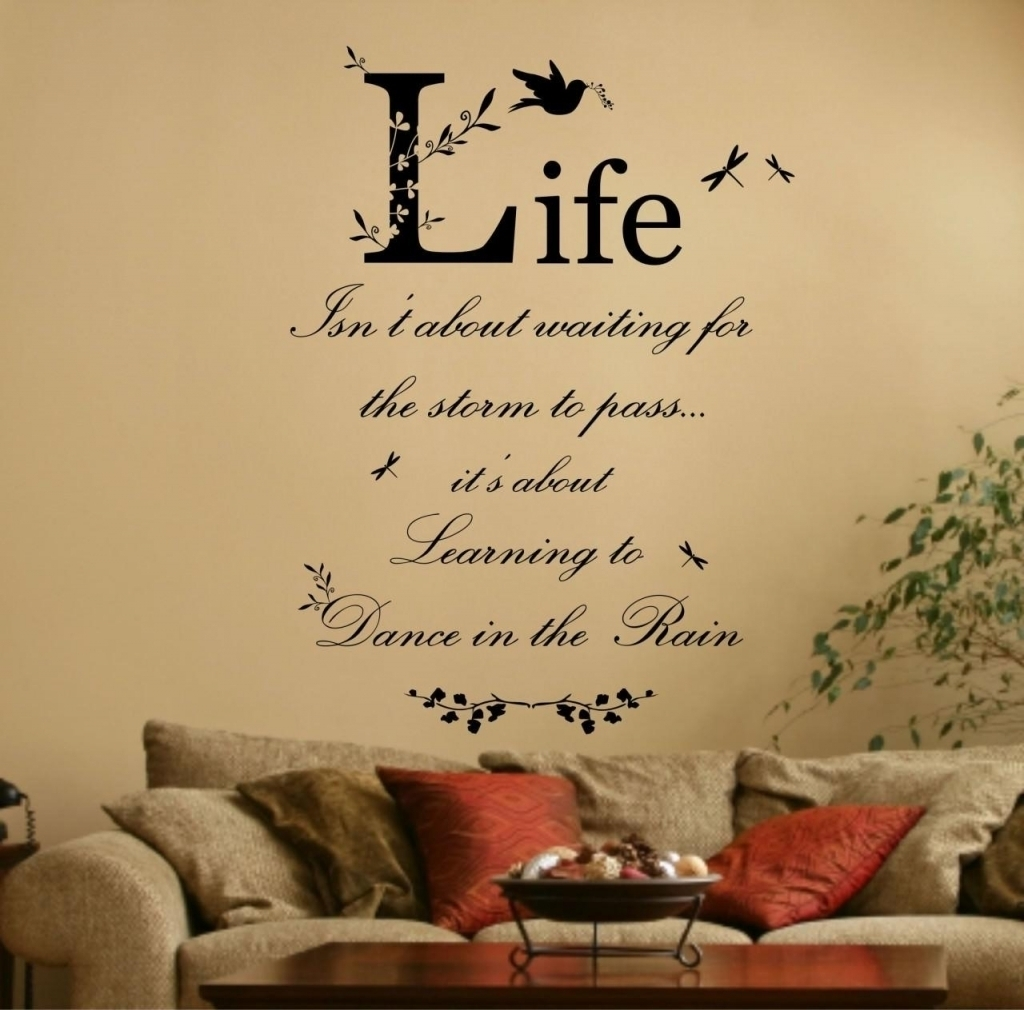 Lovely Wall Art Sayings Ideas | Wall Decorations Throughout Current Wall Art Sayings (Gallery 2 of 20)