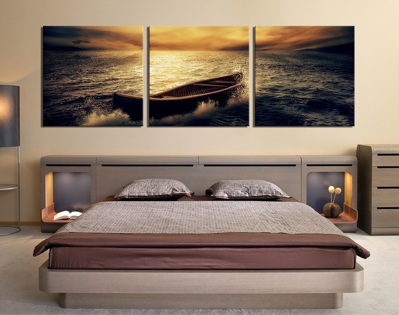 Luxury Canvas Wall Art For Bedroom | Wall Decorations Intended For 2017 Ocean Wall Art (View 18 of 20)