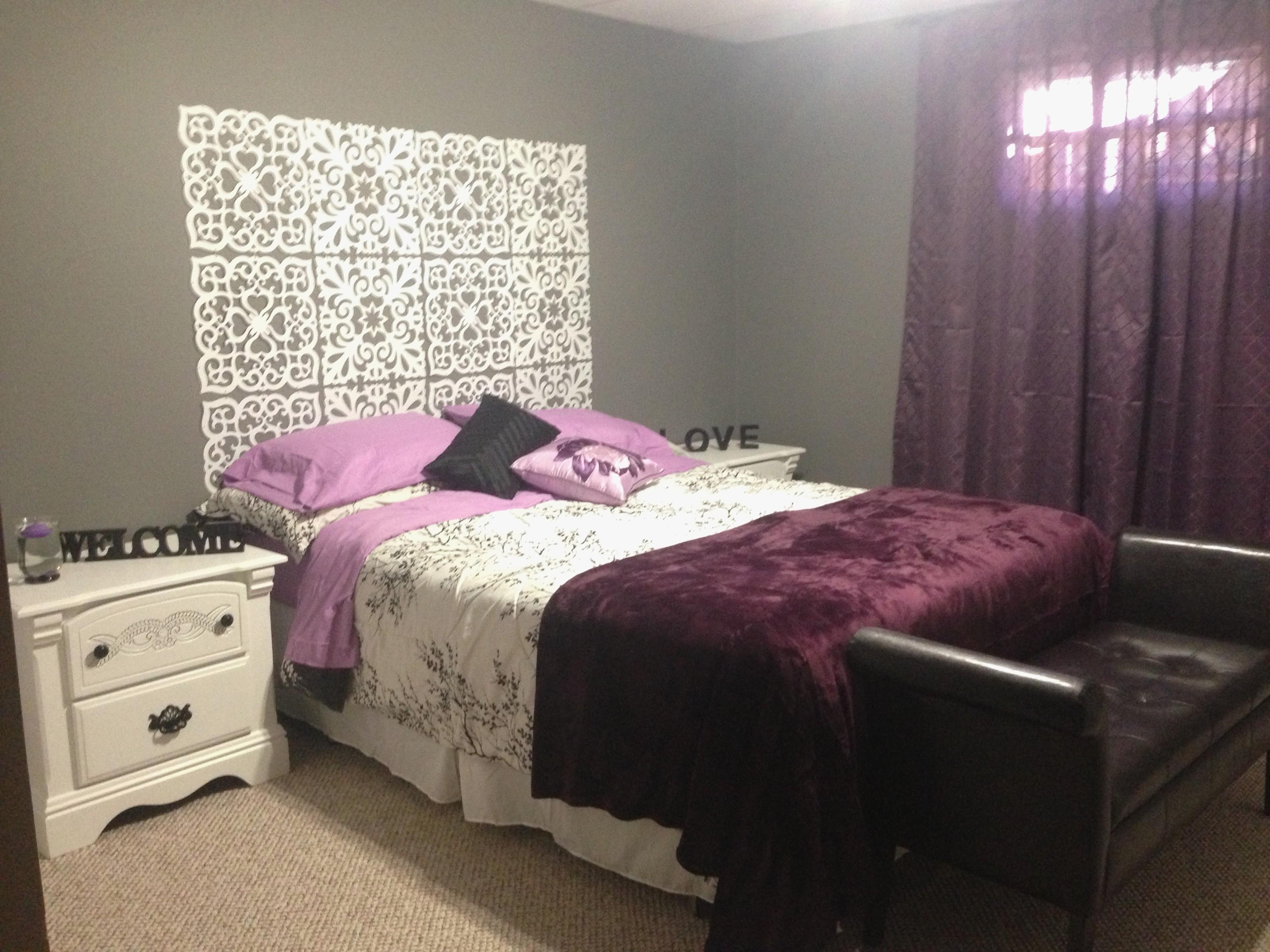 Luxury Design Of Purple And Grey Bedroom - Best Home Design Ideas for Recent Purple And Grey Wall Art