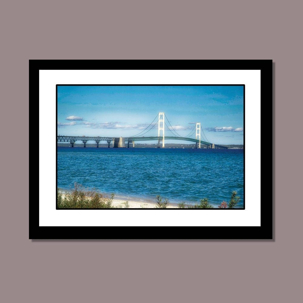 Mackinac Bridge, Michigan Photography, Great Lakes Wall Art, Beach Regarding Most Recently Released Michigan Wall Art (View 20 of 20)
