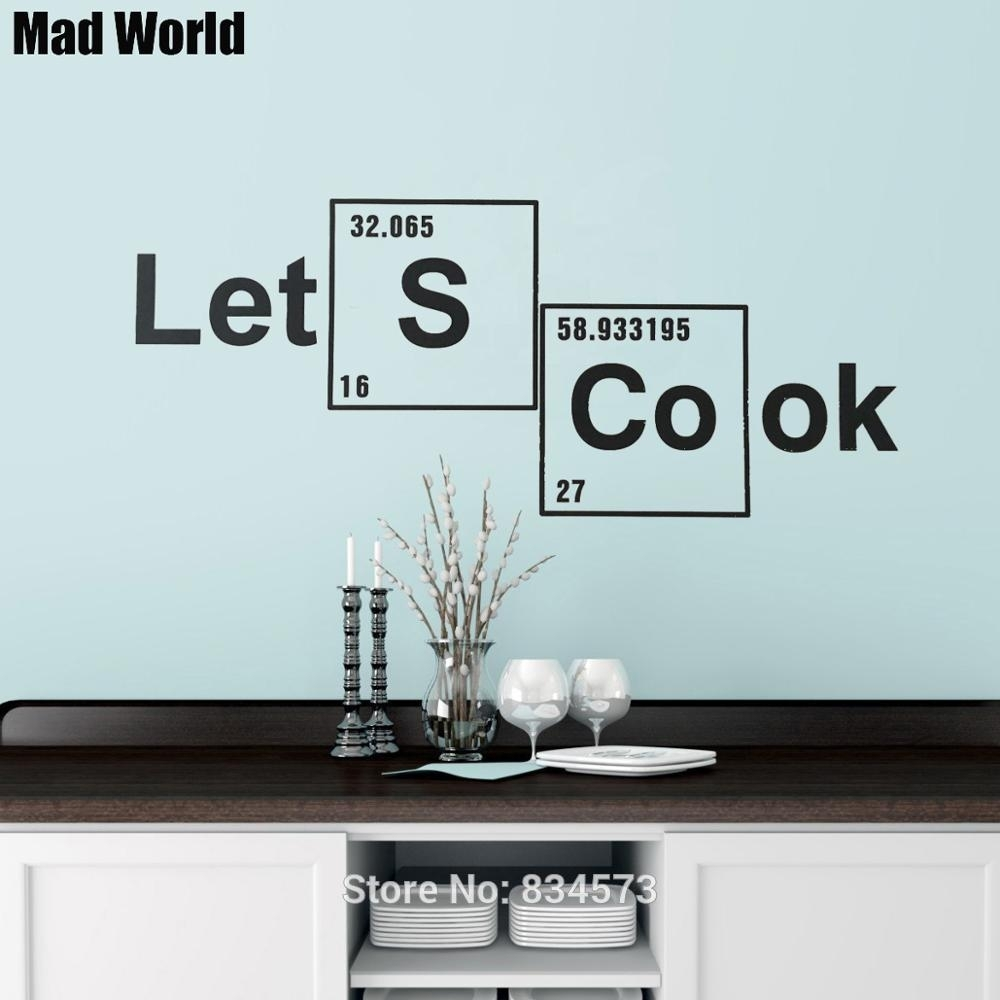 Mad World Let's Cook Periodic Table Elements Wall Art Stickers Wall With Newest Periodic Table Wall Art (Gallery 10 of 20)