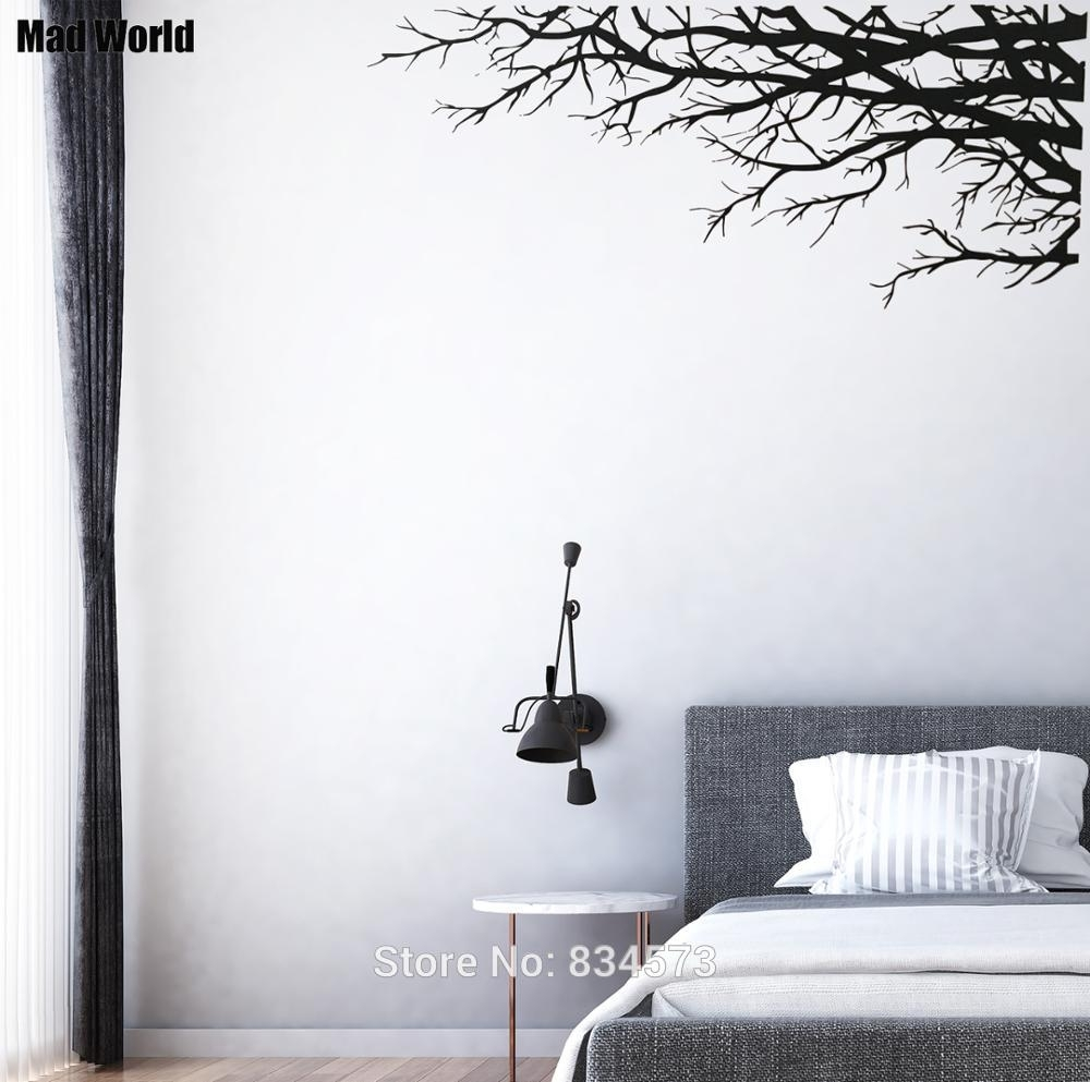 Mad World Tree Branch Elegant Nature Forest Corner Wall Art Sticker With Most Recently Released Corner Wall Art (View 14 of 20)