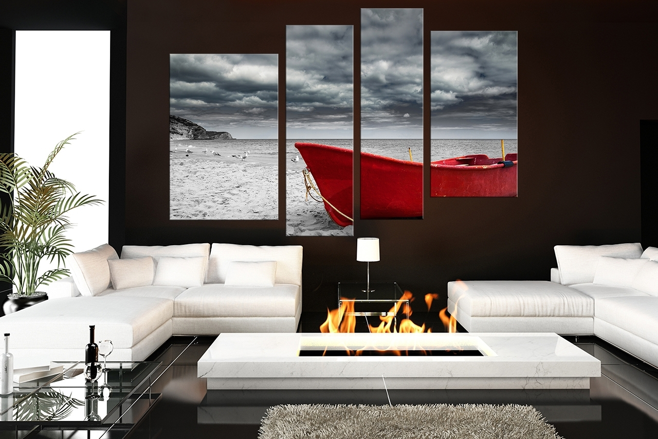Magnificent Black White And Red Wall Art 29 Home Design Ideas For For Most Popular Red And Black Canvas Wall Art (View 15 of 20)