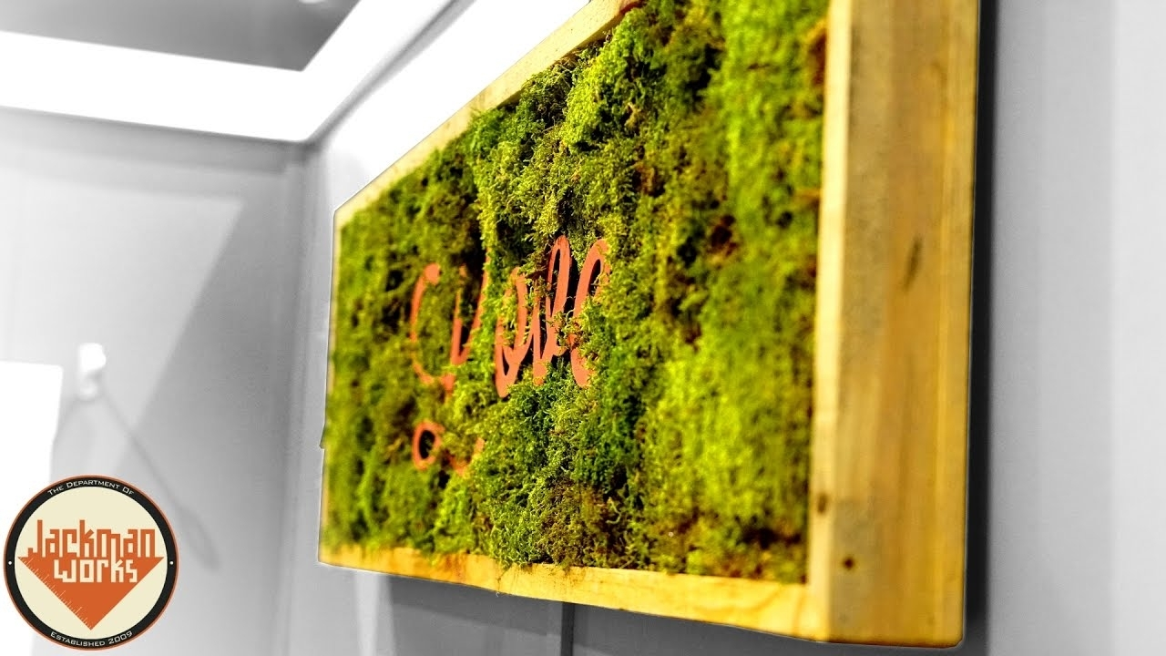 Making Inspirational Living Wall Frames – Youtube With Regard To Recent Living Wall Art (View 12 of 20)