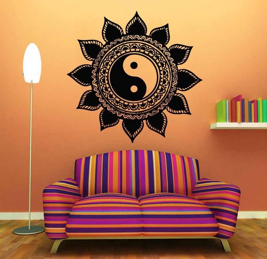 Mandala T??ng Sticker Home Decal Ph?t Yin Yang Hoa Yoga Thi?n Vinyl Inside Most Up To Date Mandala Wall Art (View 11 of 20)