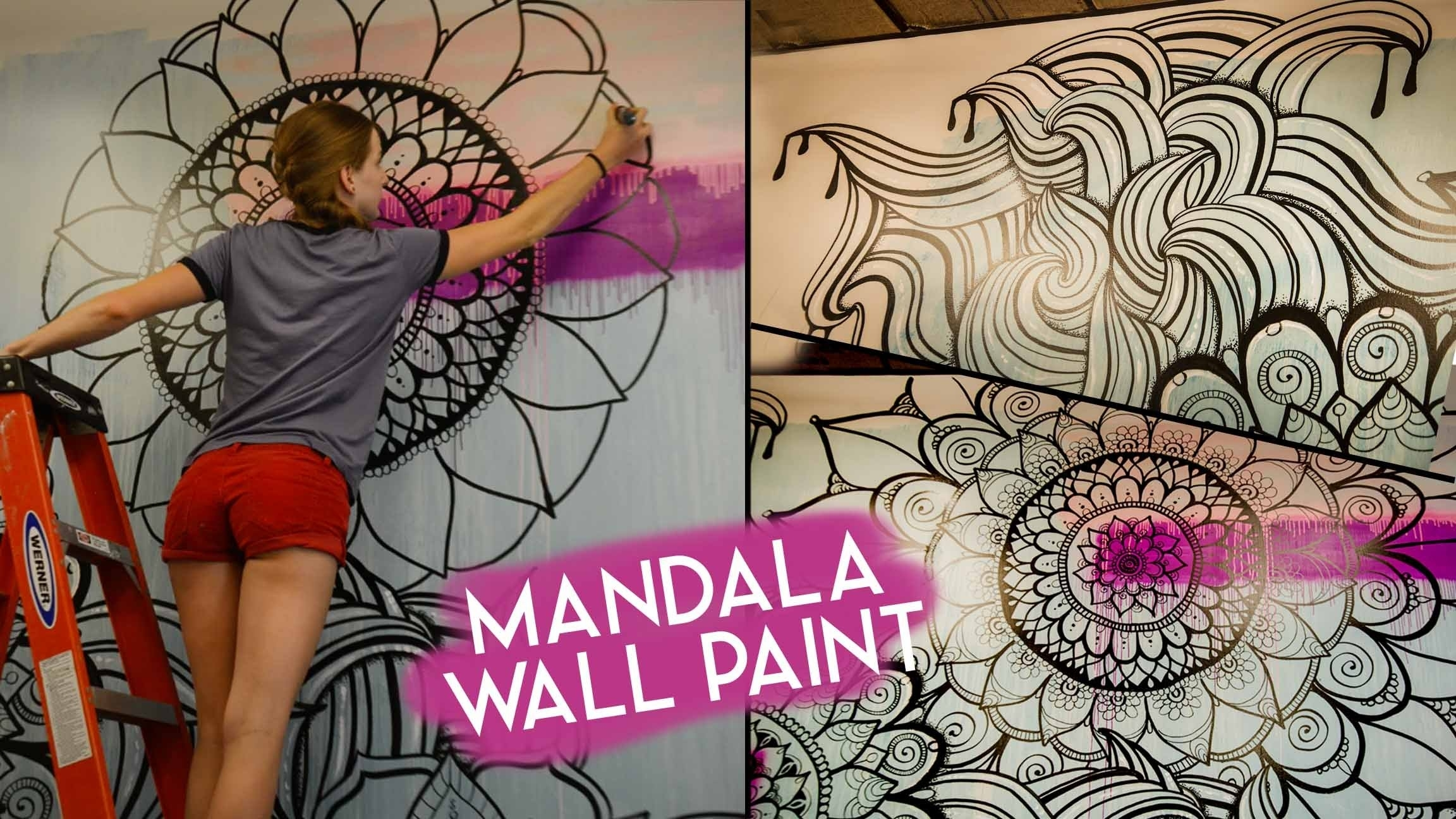 Mandala Wall Art | No Stencils – Youtube In Current Mandala Wall Art (Gallery 5 of 20)