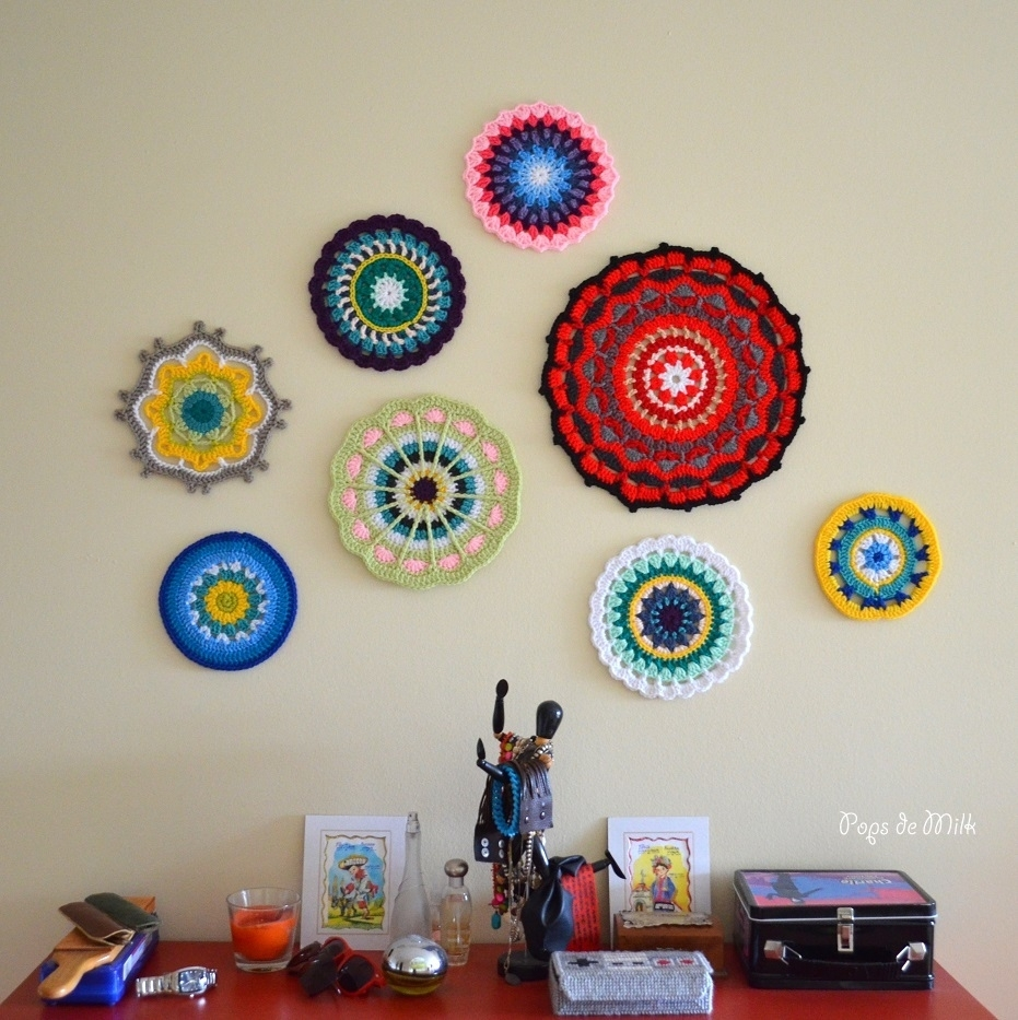 Mandala Wall Art – Still A Wip – Pops De Milk With Recent Crochet Wall Art (Gallery 18 of 20)