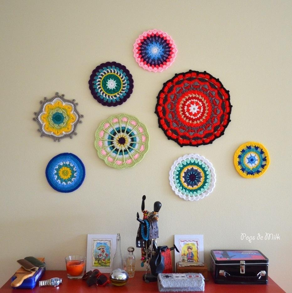Mandala Wall Art – Still A Wip – Pops De Milk With Recent Crochet Wall Art (View 18 of 20)