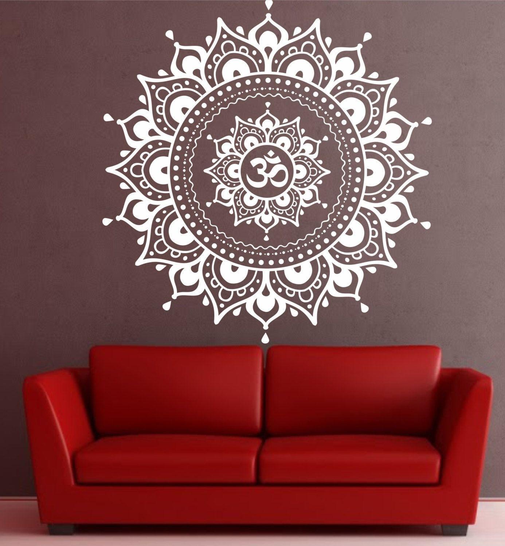 Mandala Wall Decal Mandala Decal Yoga Om Namaste Yoga Decor Wall Inside Most Popular Mandala Wall Art (View 15 of 20)