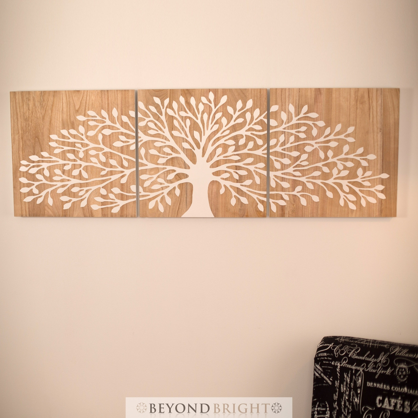 Mango Wood Wall Art Tree Of Life Wooden Timber Whit Carved Wall Art With Recent Tree Of Life Wall Art (Gallery 11 of 15)