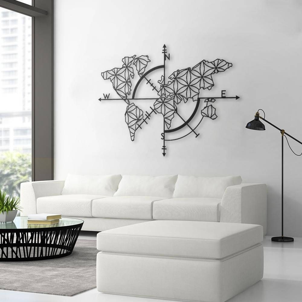 Map Of Life Metal World Map Metal Wall Decor Metal Wall Art Design With Regard To 2018 Map Of The World Wall Art (Gallery 20 of 20)