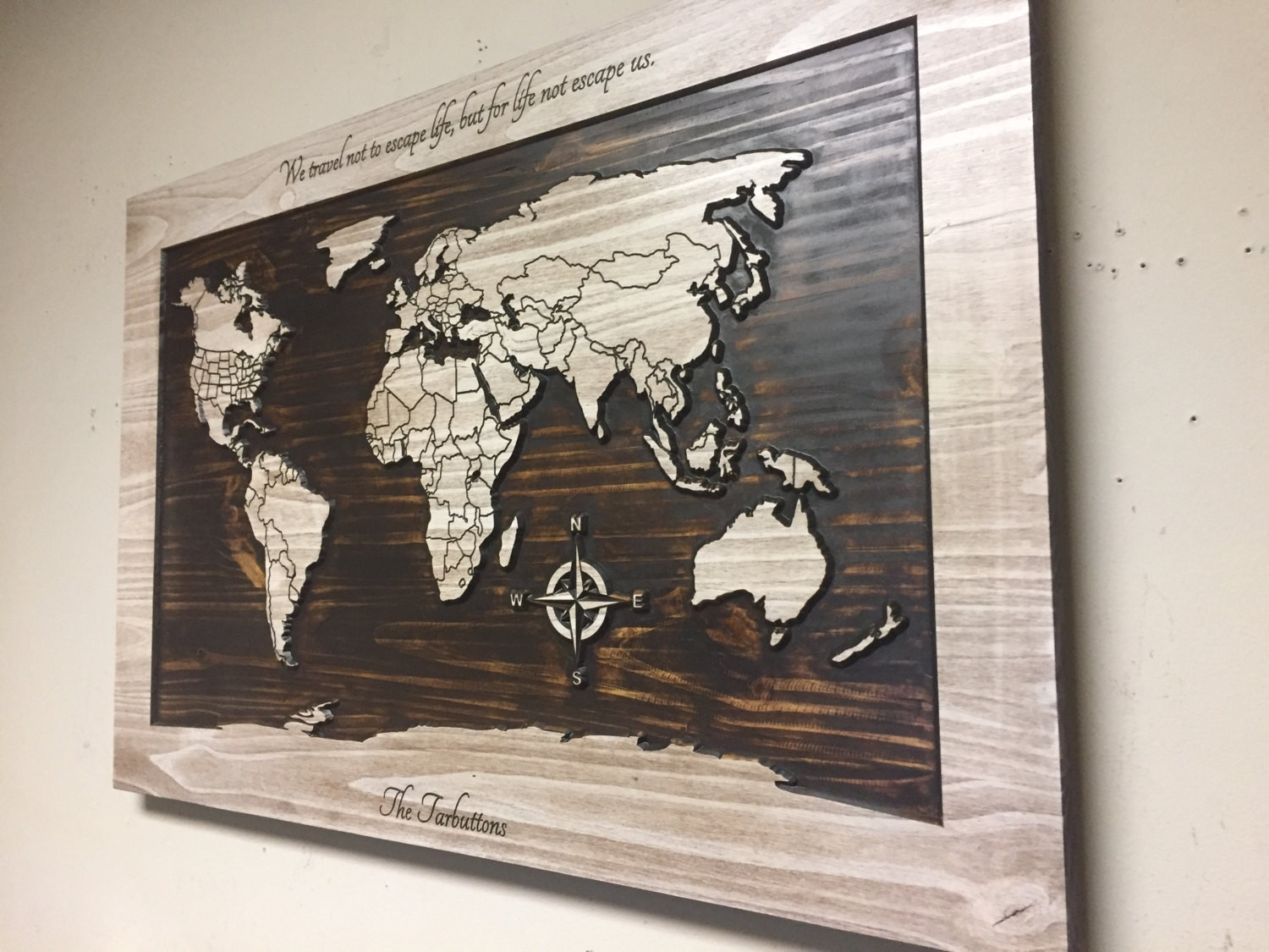 Map Of The World Wall Decor Beautiful Wood Wall Art World Map Wall Pertaining To Most Recent Wall Art World Map (View 6 of 20)