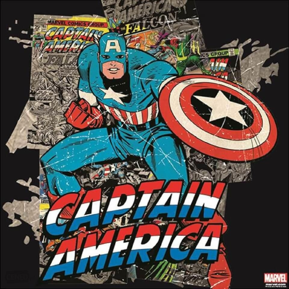 Marvel Captain America Printed Canvas Wall Art – Ceneo (View 10 of 15)
