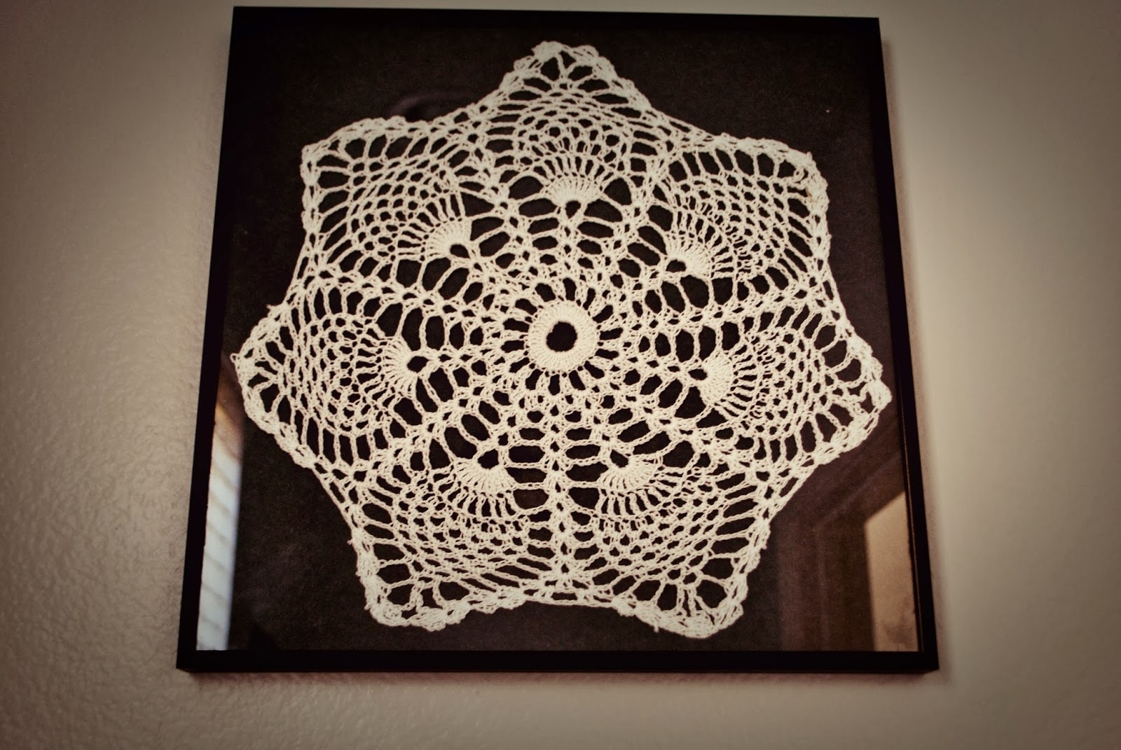 Maya's Wonderland: Framed Crochet Doilies Wall Art Intended For Current Crochet Wall Art (Gallery 13 of 20)