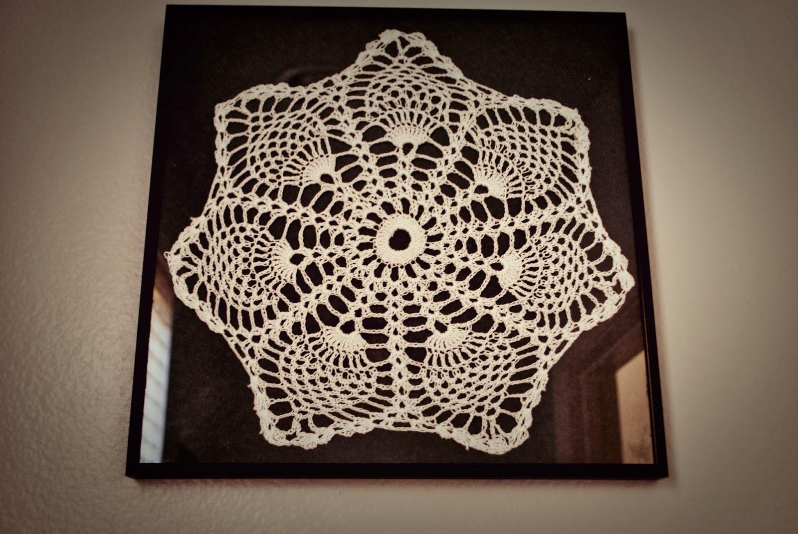 Maya's Wonderland: Framed Crochet Doilies Wall Art Intended For Current Crochet Wall Art (View 13 of 20)